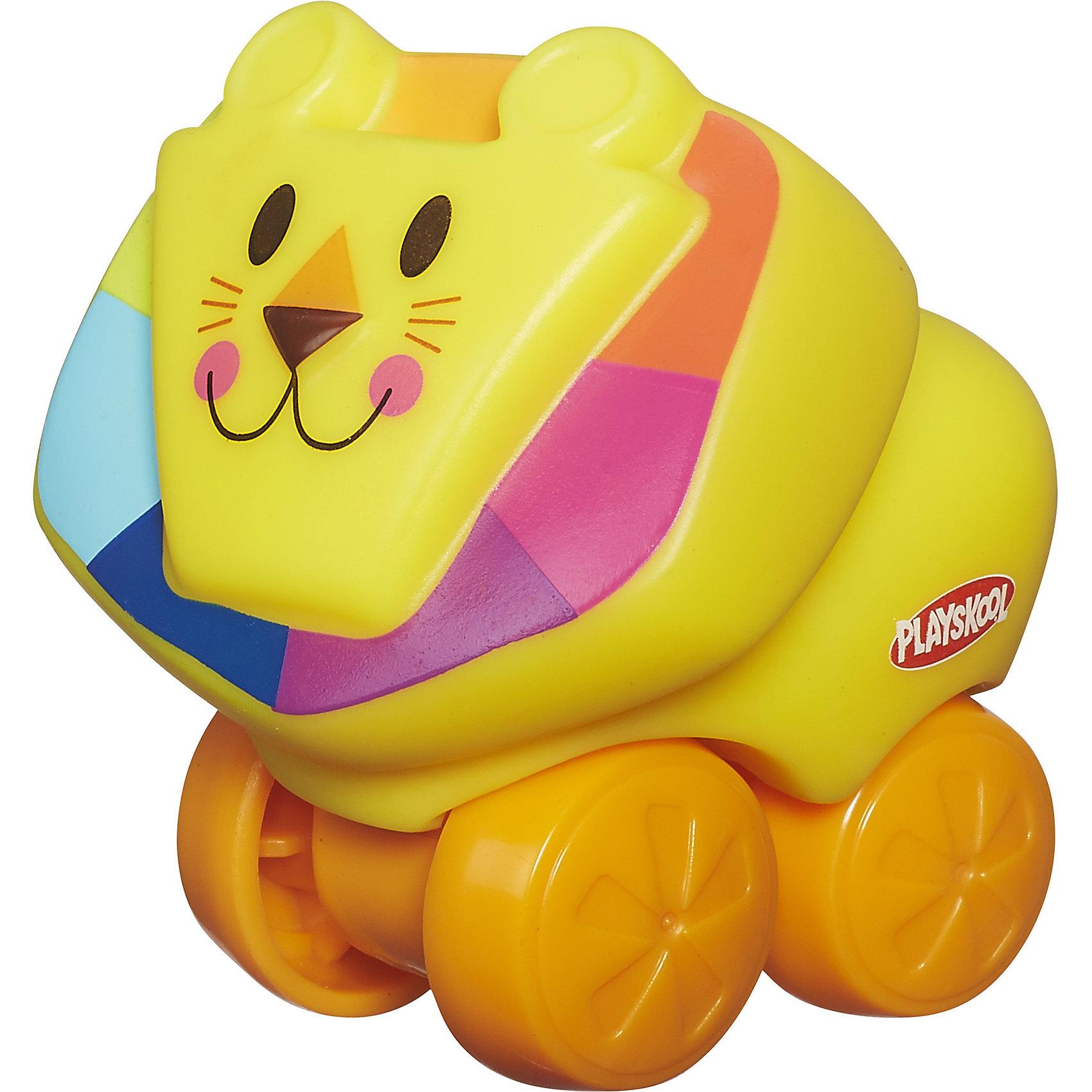 Веселые мини-животные Возьми с собой: Лев, PLAYSKOOLВеселые мини-животные Возьми с собой, PLAYSKOOL, 4843/A7391<br><br>Характеристики:<br><br>• Цвет: желтый<br>• Игрушка: львенок<br>• Каталка на колесиках<br>• Материал: пластик<br><br>Миниатюрная каталка в виде животного подарит малышу море радости и позитива. Сделана игрушка из качественного материала, который не вредит ребенку. Игрушку легко мыть, она не тускнеет и не портится от длительного использования. Такая игрушка сможет развить мелкую моторику рук, благодаря плотному, но не жесткому материалу.<br><br>Веселые мини-животные Возьми с собой, PLAYSKOOL, 4843/A7391 можно купить в нашем интернет-магазине.<br><br>Ширина мм: 76<br>Глубина мм: 54<br>Высота мм: 72<br>Вес г: 54<br>Возраст от месяцев: 12<br>Возраст до месяцев: 36<br>Пол: Унисекс<br>Возраст: Детский<br>SKU: 5177786