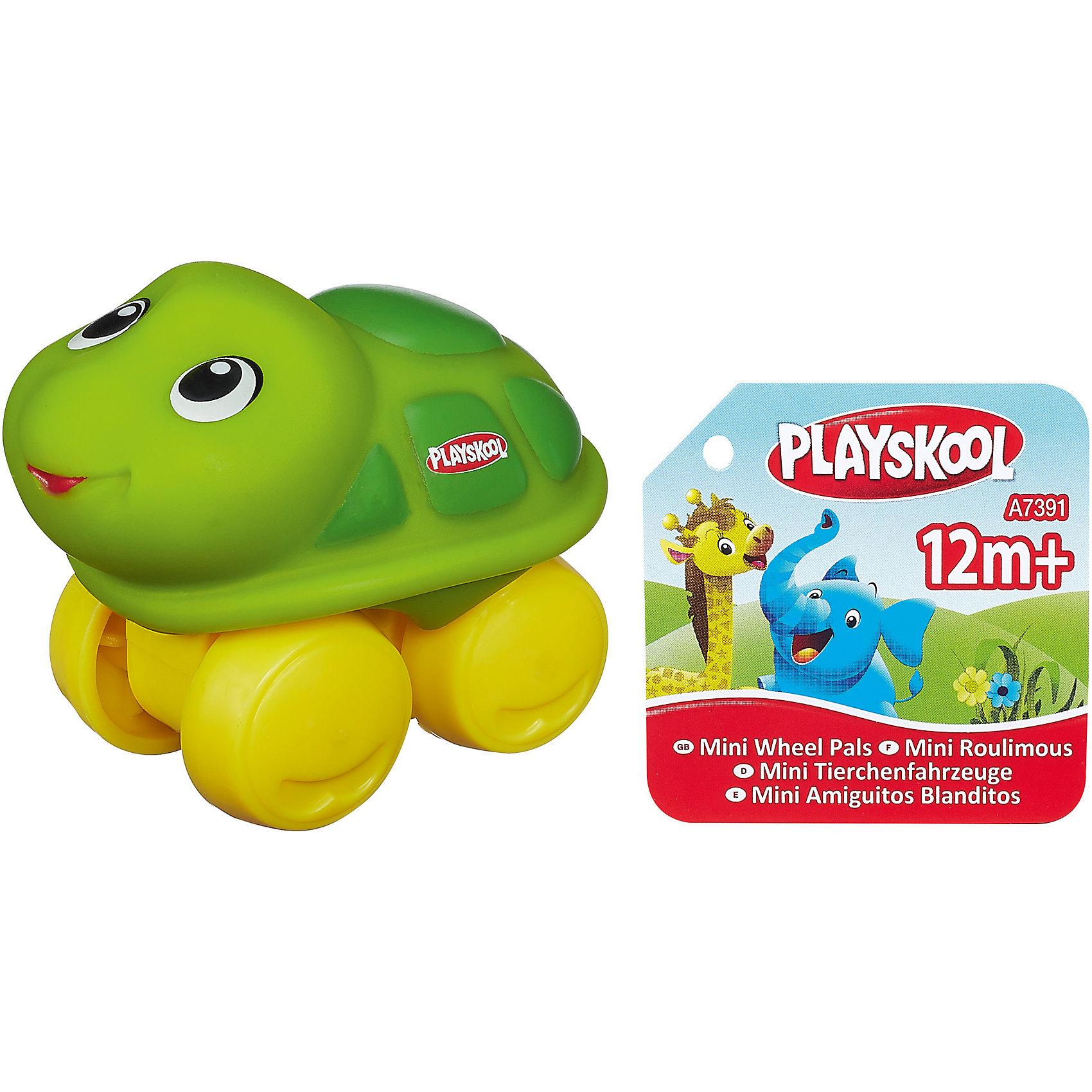 Hasbro Веселые мини-животные Возьми с собой: Черепаха, PLAYSKOOL каталки hasbro каталка веселые мини животные