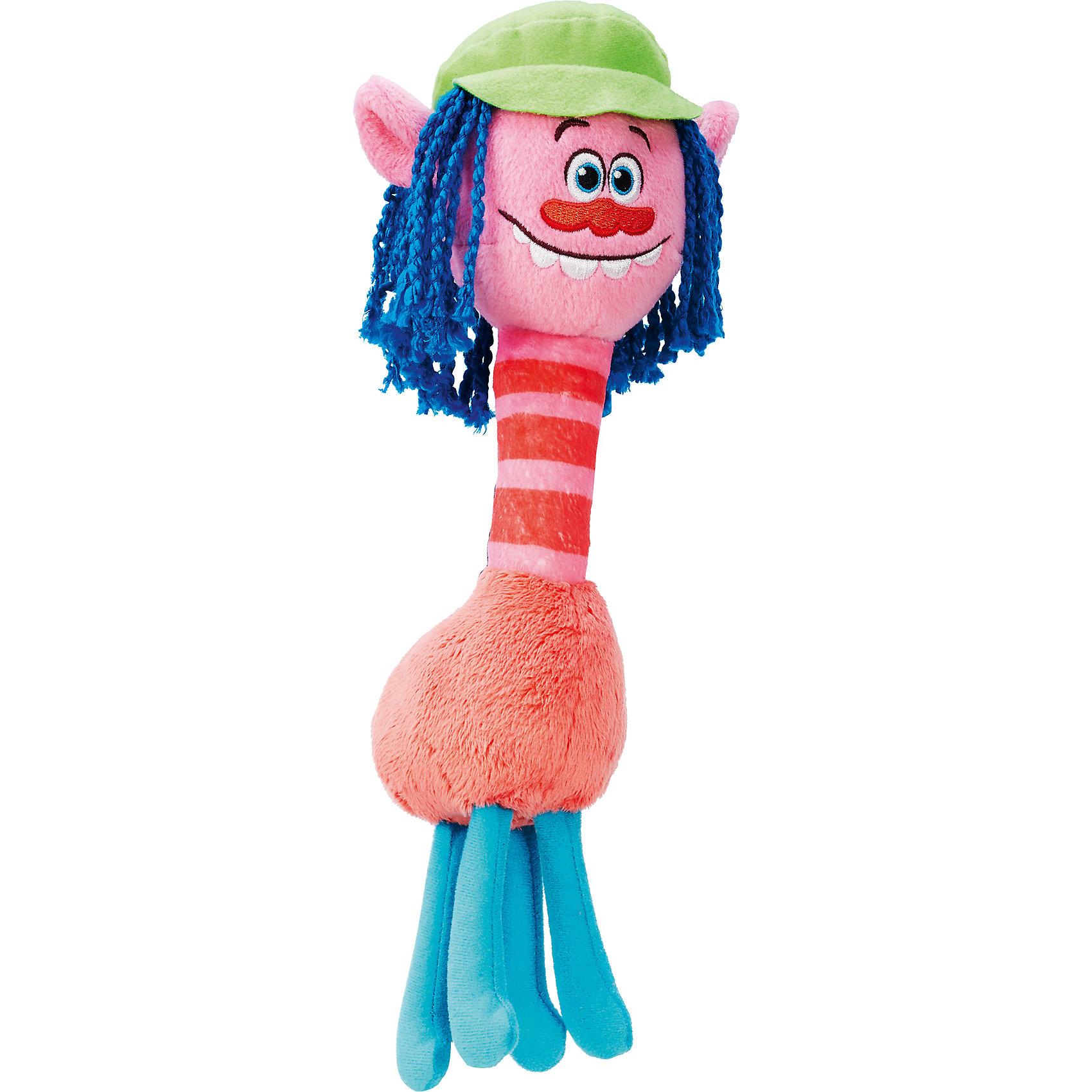 Мягкая игрушка Купер, ТроллиЛюбимые герои<br>Тролли из плюша – Купер.<br><br>Характеристики:<br><br>• Комплект: фигурка тролля.<br>• Материал: плюш.<br>• Размер игрушки – 28 см.<br><br>Тролли из плюша от торговой марки Hasbro созданы по мотивам известного мультипликационного фильма  Trolls.  Милые крошечные существа живут в чудесном мире танцев, песен и обнимашек. У них очаровательные мордашки с круглыми глазками и разноцветные яркие волосы. Тролль Купер очень забавный персонаж. По форме тело его напоминает жирафа. Мягкий тролль-весельчак выполнен в красном, розовом и голубом цветах. Его настроение передают его веселые голубые глаза, милый красный носик и широкая улыбка, которая позволяет увидеть его белые зубы. Длинные ярко-синие волосы напоминают плетеные веревочки. Голова покрыта зеленой кепкой, из-под которой торчат розовые ушки. Длинная шея тролля в красно-розовую полоску переходит в приятное на ощупь красное туловище.  Игрушка выполнена из качественных материалов - текстиля и плюша. Собери всю коллекцию троллей!<br><br>Тролля из плюша – Купер, можно купить в нашем интернет - магазине.<br><br>Ширина мм: 70<br>Глубина мм: 165<br>Высота мм: 356<br>Вес г: 268<br>Возраст от месяцев: 48<br>Возраст до месяцев: 96<br>Пол: Унисекс<br>Возраст: Детский<br>SKU: 5177817