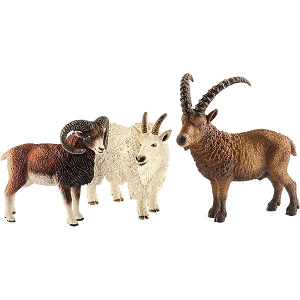 Животные горМир животных<br>Характеристики:<br><br>• возраст: от 3 лет;<br>• материал: каучуковый пластик;<br>• в наборе: горный козел, дикий баран Муфлон, горный козел Ибекс;<br>• размер упаковки: 8,2х24,5х19 см;<br>• подарочная упаковка;<br>• страна бренда: Германия.<br><br>Фигурки от бренда Schleich – детализированные копии рогатых горных животных. Фигурки с точностью передают особенности строения тела животных, внешний вид шерсти, характерные позы.<br><br>В изготовлении каждой фигурки «Шляйх» учитываются рекомендации педагогики для того, чтобы игрушка была интересна и полезна ребенку, комфортно располагалась в руках. Фигурки раскрашены вручную, сделаны из прочных безопасных материалов, не вызывающих аллергию. Разработано при участии Берлинского зоопарка.<br><br>Фигурки подойдут для сюжетно-ролевых игр, а также могут стать частью большой коллекции реалистичных копий животных Schleich.<br><br>Набор Schleich Животные гор можно купить в нашем интернет-магазине.<br>Ширина мм: 253; Глубина мм: 192; Высота мм: 86; Вес г: 333; Возраст от месяцев: 36; Возраст до месяцев: 96; Пол: Унисекс; Возраст: Детский; SKU: 5178080;