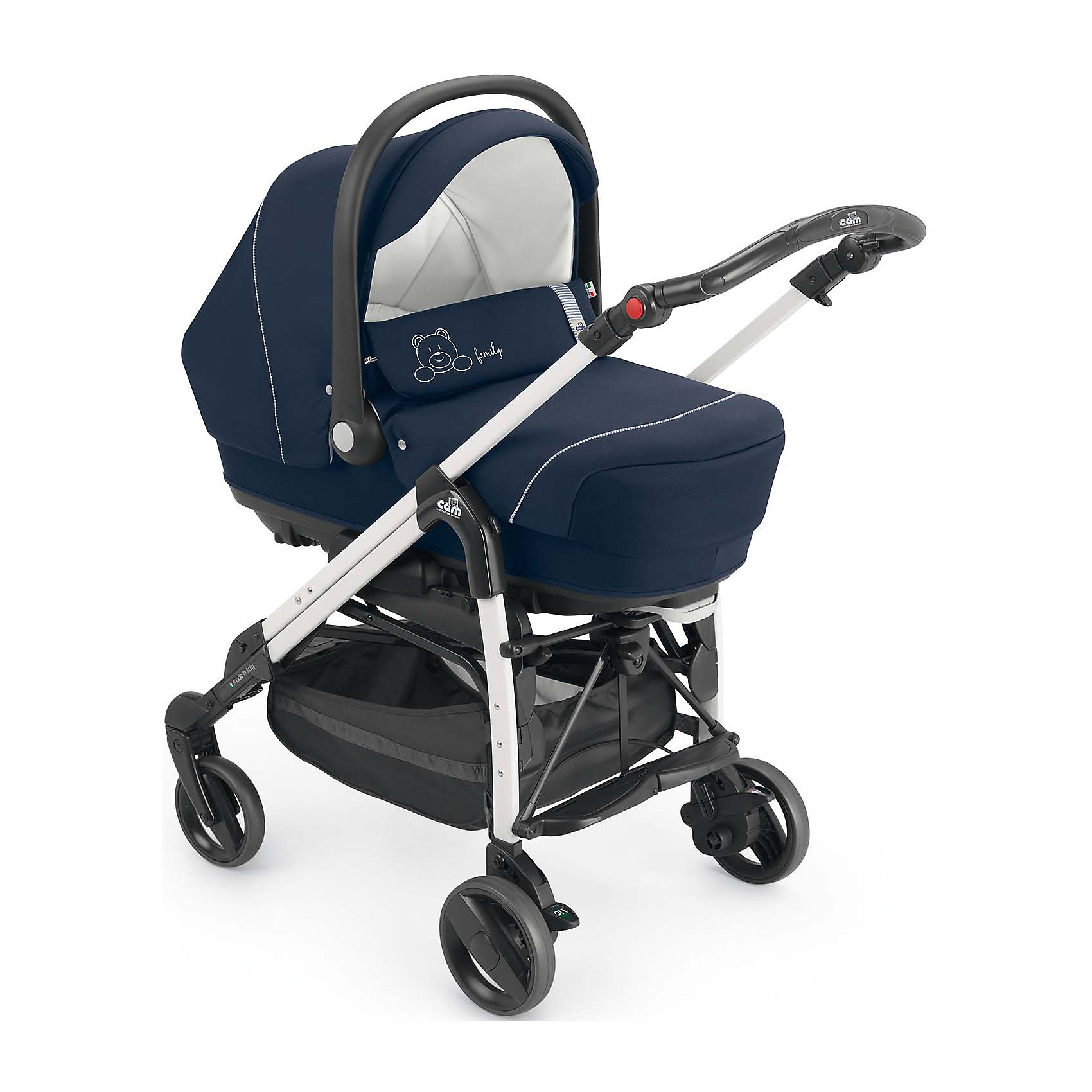 CAM Коляска 3-в-1 Comby Family, Cam, синий коляска 3 в 1 cam cortina x3 tris evolution цвет 638