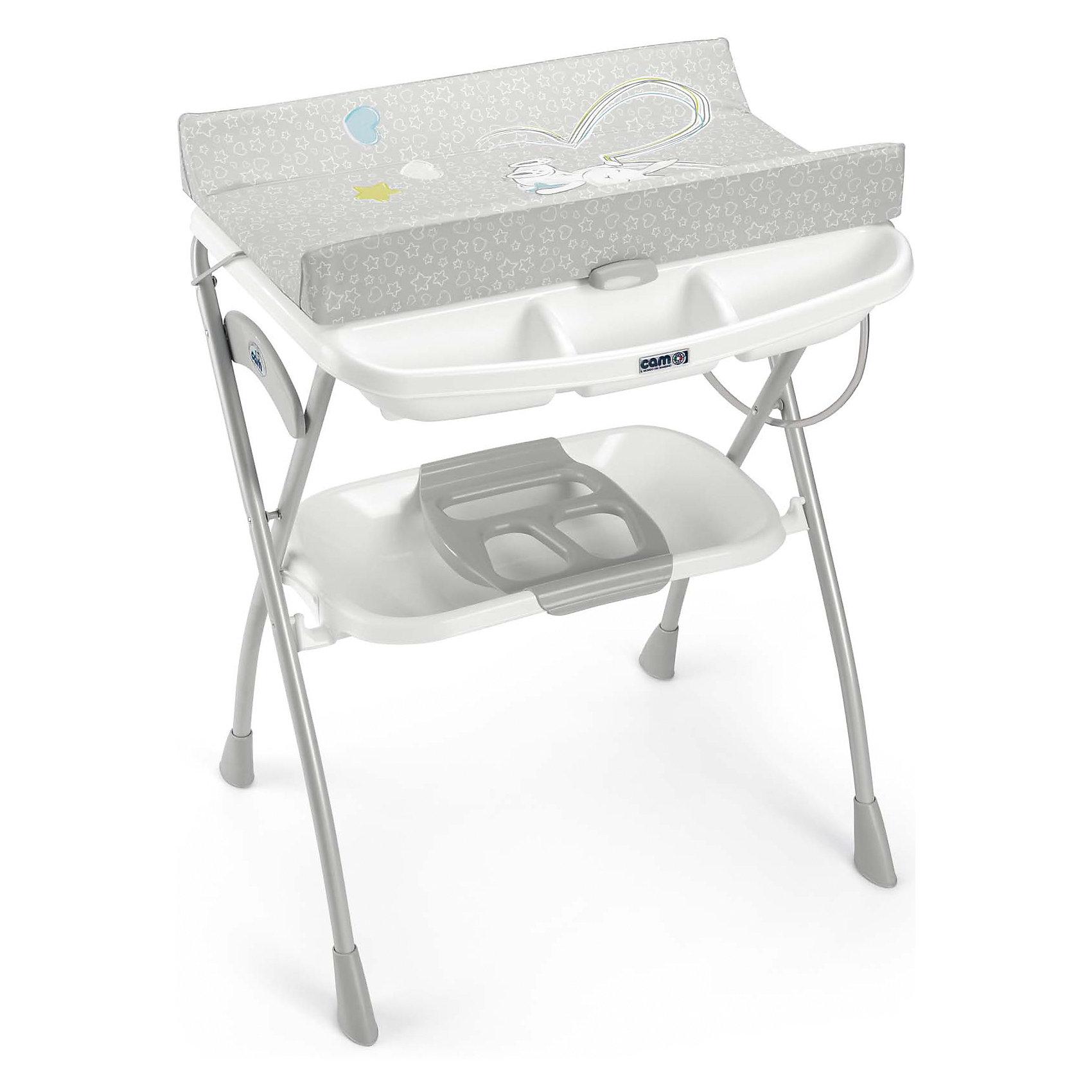 CAM Пеленальный столик Volare, Зайка, Cam, серый/белый cam автокресло auto gara 0 18 кг cam синий серый