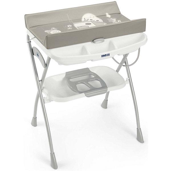 Пеленальный столик Volare, Домик, Cam, тёмно-серый/белыйПеленальные столы<br>Характеристики:<br><br>• Наименование: столик пеленальный<br>• Пол: универсальный<br>• Материал: металл, пластик<br>• Цвет: темно-серый, белый<br>• Предусмотрены бортики<br>• Ножки оснащены противоскользящими накладками<br>• У ванночки имеется отверстие для слива<br>• Имеет складную конструкцию<br>• Размеры (Д*Ш*В): 78*66*103 см<br>• Комплектация: пеленальный столик, ванночка, полки, отделения для принадлежностей для купания и мелочей<br>• Вес: 8 кг 100 г<br><br>Пеленальный столик Volare, Домик, Cam, тёмно-серый/белый изготовлен из экологически безопасных, но при этом очень прочных материалов, за которыми легко ухаживать. Конструкция состоит из металлической подставки с устойчивыми ножками, оснащенными антискользящими накладками, пеленального столика с бортиками и ванночки, предназначенной как для купания в положении лежа, так и сидя. Внизу предусмотрена вместительная полка для банных принадлежностей. Столик имеет складную конструкцию, легко складывается и имеет компактный размер. Пеленальный столик Volare, Домик, Cam, тёмно-серый/белый обеспечит не только комфортное купание для вашего ребенка, но и станет незаменимым помощником при проведении ежедневных гигиенических процедурах.<br><br>Пеленальный столик Volare, Домик, Cam, тёмно-серый/белый можно купить в нашем интернет-магазине.<br>Ширина мм: 1090; Глубина мм: 195; Высота мм: 810; Вес г: 10300; Возраст от месяцев: 0; Возраст до месяцев: 12; Пол: Унисекс; Возраст: Детский; SKU: 5179802;