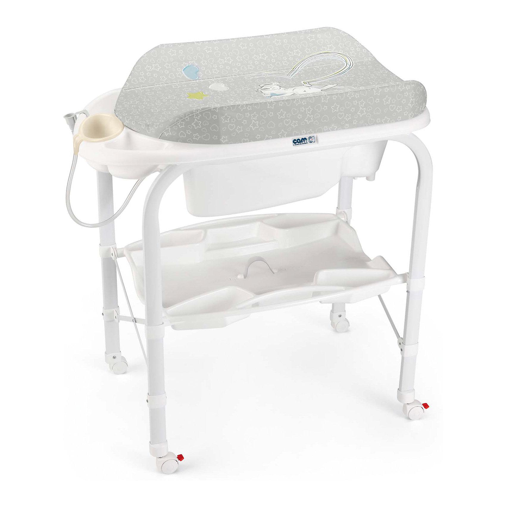 CAM Пеленальный столик Cambio, Зайка, Cam, серый cam автокресло auto gara 0 18 кг cam синий серый