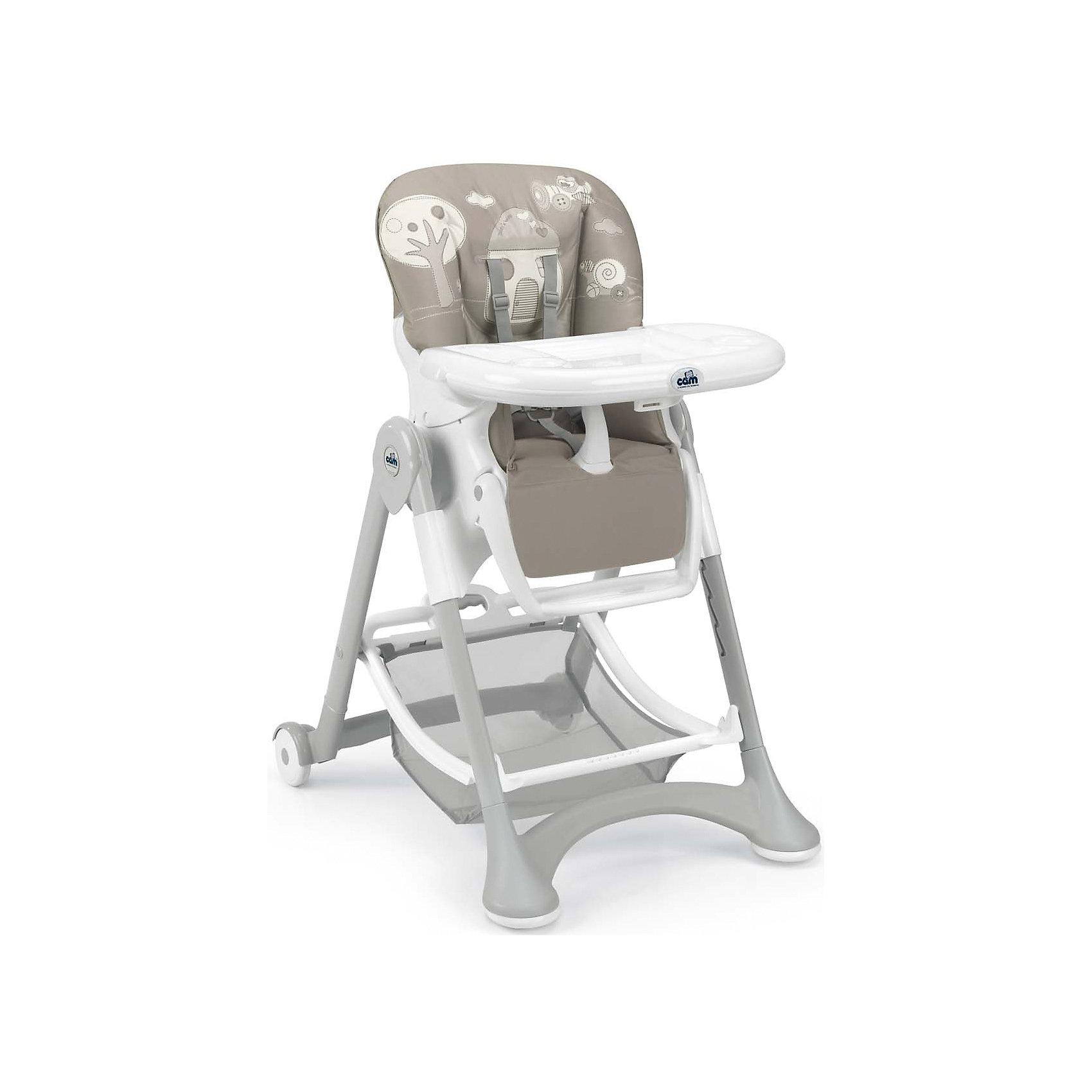 Стульчик для кормления Campione, Домик, Cam, тёмно-серыйХарактеристики:<br><br>• Наименование: стульчик для кормления<br>• Пол: универсальный<br>• Материал: металл, пластик, текстиль<br>• Цвет: темно-серый, серый, белый<br>• Наличие 6-ти уровней по высоте<br>• Регулируемый наклон спинки и подставки для ног в 4-х положениях<br>• Наличие 3-х подносов<br>• Имеет складную конструкцию<br>• Ножки оснащены колесиками, задние с фиксатором<br>• Размеры (Д*Ш*В): 109*84*61 см<br>• Комплектация: корзина для игрушек, ремни безопасности<br>• Вес: 9 кг 800 г<br><br>Стульчик для кормления Campione, Домик, Cam, темно-серый – идеальное решение для подросшего малыша. Стульчик от Cam изготовлен из экологически безопасных, но при этом очень прочных материалов, за которыми легко ухаживать. Конструкция состоит из металлического каркаса с ножками, у которых предусмотрены колесики с фиксатором, чехол сидения из водоооталкивающей ткани. Безопасность пребывания ребенка в стульчике обеспечивается не только специальной конструкцией, но и ремнями безопасности. У сидения и подножки предусмотрена регулировка угла наклона. По высоте стульчик можно устанавливать в шести положениях. Съемные подносы облегчат их мытье после кормления или творческих занятий. Стульчик для кормления Campione, Домик, Cam, темно-серый – это комфорт и безопасность для вашего ребенка.<br><br>Стульчик для кормления Campione, Домик, Cam, темно-серый можно купить в нашем интернет-магазине.<br><br>Ширина мм: 627<br>Глубина мм: 307<br>Высота мм: 980<br>Вес г: 12100<br>Возраст от месяцев: 6<br>Возраст до месяцев: 36<br>Пол: Унисекс<br>Возраст: Детский<br>SKU: 5179807