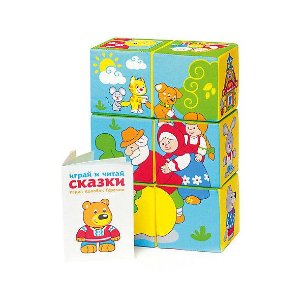 Кубики Сказка, МякишиРазвивающие игрушки<br>Характеристики товара:<br><br>• материал: хлопок, поролон<br>• комплектация: 6 шт<br>• размер кубика: 10 х 10 х 10 см<br>• размер упаковки: 31 x 23 x 11 см<br>• развивающая игрушка<br>• упаковка: пакет<br>• вес: 195 г<br>• страна бренда: РФ<br>• страна изготовитель: РФ<br><br><br>Малыши активно познают мир и тянутся к новой информации. Чтобы сделать процесс изучения окружающего пространства интереснее, ребенку можно подарить развивающие игрушки. В процессе игры информация усваивается намного лучше!<br>Такие кубики помогут занять малыша, играть ими приятно и весело. Одновременно они позволят познакомиться со многими сказками, которые ребенку предстоит узнать. Такие игрушки развивают тактильные ощущения, моторику, цветовосприятие, логику, воображение, учат фокусировать внимание. Каждое изделие абсолютно безопасно – оно создано из качественной ткани с мягким наполнителем. Игрушки производятся из качественных и проверенных материалов, которые безопасны для детей.<br><br>Кубики Сказка от бренда Мякиши можно купить в нашем интернет-магазине.<br>Ширина мм: 200; Глубина мм: 100; Высота мм: 300; Вес г: 80; Возраст от месяцев: 12; Возраст до месяцев: 36; Пол: Унисекс; Возраст: Детский; SKU: 5183158;