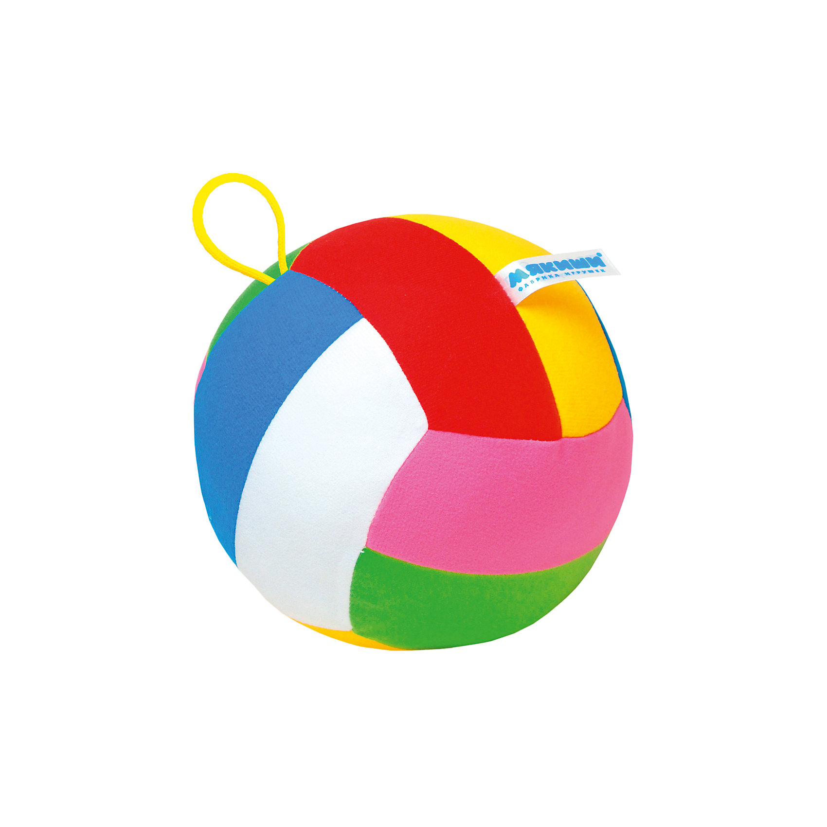 Мяч с погремушкойШалун, МякишиХарактеристики товара:<br><br>• цвет: разноцветный<br>• материал: трикотаж, холлофайбер<br>• комплектация: 1 шт<br>• размер игрушки: 15 см<br>• размер упаковки: 15 см<br>• развивающая игрушка<br>• упаковка: пакет<br>• звуковой элемент внутри<br>• страна бренда: РФ<br>• страна изготовитель: РФ<br><br>Малыши активно познают мир и тянутся к новой информации. Чтобы сделать процесс изучения окружающего пространства интереснее, ребенку можно подарить развивающие игрушки. В процессе игры информация усваивается намного лучше!<br>Такие мячики помогут занять малыша, играть ими приятно и весело. Одновременно они позволят познакомиться с разными цветами и фактурами. Такие игрушки развивают тактильные ощущения, моторику, цветовосприятие, логику, воображение, учат фокусировать внимание. Каждое изделие абсолютно безопасно – оно создано из качественной ткани с мягким наполнителем. Игрушки производятся из качественных и проверенных материалов, которые безопасны для детей.<br><br>Мяч с погремушкой Шалун от бренда Мякиши можно купить в нашем интернет-магазине.<br><br>Ширина мм: 160<br>Глубина мм: 160<br>Высота мм: 160<br>Вес г: 90<br>Возраст от месяцев: 12<br>Возраст до месяцев: 36<br>Пол: Унисекс<br>Возраст: Детский<br>SKU: 5183161