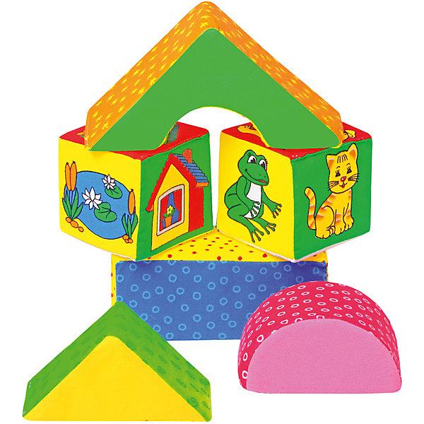 Кубики Домики, МякишиМягкие конструкторы<br>Характеристики товара:<br><br>• материал: трикотаж, холлофайбер<br>• комплектация: 2 кубика, 2 треугольника, прямоугольник<br>• размер игрушки: 8-14 см<br>• размер упаковки: 20х30 см<br>• развивающая игрушка<br>• упаковка: пакет<br>• страна бренда: РФ<br>• страна изготовитель: РФ<br><br>Малыши активно познают мир и тянутся к новой информации. Чтобы сделать процесс изучения окружающего пространства интереснее, ребенку можно подарить развивающие игрушки. В процессе игры информация усваивается намного лучше!<br>Такие кубики помогут занять малыша, играть ими приятно и весело. Одновременно они позволят познакомиться со многими цветами, формами, фактурами и предметами, которые ребенку предстоит встретить. Такие игрушки развивают тактильные ощущения, моторику, цветовосприятие, логику, воображение, учат фокусировать внимание. Каждое изделие абсолютно безопасно – оно создано из качественной ткани с мягким наполнителем. Игрушки производятся из качественных и проверенных материалов, которые безопасны для детей.<br><br>Кубики Домики от бренда Мякиши можно купить в нашем интернет-магазине.<br><br>Ширина мм: 140<br>Глубина мм: 70<br>Высота мм: 280<br>Вес г: 80<br>Возраст от месяцев: 12<br>Возраст до месяцев: 36<br>Пол: Унисекс<br>Возраст: Детский<br>SKU: 5183162