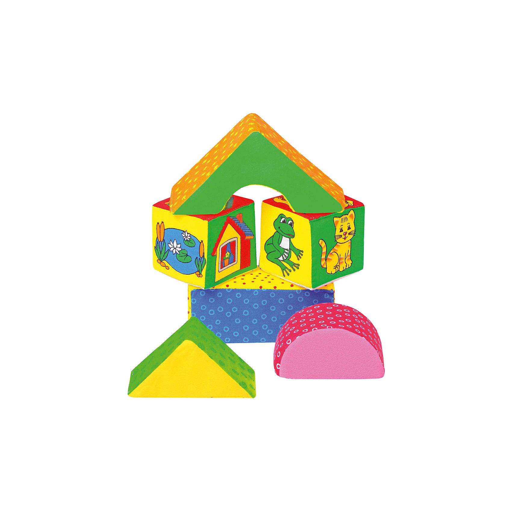Кубики Домики, МякишиХарактеристики товара:<br><br>• материал: трикотаж, холлофайбер<br>• комплектация: 2 кубика, 2 треугольника, прямоугольник<br>• размер игрушки: 8-14 см<br>• размер упаковки: 20х30 см<br>• развивающая игрушка<br>• упаковка: пакет<br>• страна бренда: РФ<br>• страна изготовитель: РФ<br><br>Малыши активно познают мир и тянутся к новой информации. Чтобы сделать процесс изучения окружающего пространства интереснее, ребенку можно подарить развивающие игрушки. В процессе игры информация усваивается намного лучше!<br>Такие кубики помогут занять малыша, играть ими приятно и весело. Одновременно они позволят познакомиться со многими цветами, формами, фактурами и предметами, которые ребенку предстоит встретить. Такие игрушки развивают тактильные ощущения, моторику, цветовосприятие, логику, воображение, учат фокусировать внимание. Каждое изделие абсолютно безопасно – оно создано из качественной ткани с мягким наполнителем. Игрушки производятся из качественных и проверенных материалов, которые безопасны для детей.<br><br>Кубики Домики от бренда Мякиши можно купить в нашем интернет-магазине.<br><br>Ширина мм: 140<br>Глубина мм: 70<br>Высота мм: 280<br>Вес г: 80<br>Возраст от месяцев: 12<br>Возраст до месяцев: 36<br>Пол: Унисекс<br>Возраст: Детский<br>SKU: 5183162