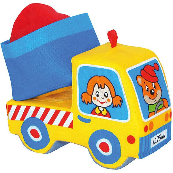 Грузовичок, Мякиши, в ассортиментеМашинки<br>Характеристики товара:<br><br>• материал: текстиль<br>• комплектация: 1 шт<br>• размер игрушки: 14х10х6 см<br>• развивающая игрушка<br>• разнофактурный материал<br>• упаковка: пакет<br>• кузов на липучке<br>• страна бренда: РФ<br>• страна изготовитель: РФ<br><br>Малыши активно познают мир и тянутся к новой информации. Чтобы сделать процесс изучения окружающего пространства интереснее, ребенку можно подарить развивающие игрушки. В процессе игры информация усваивается намного лучше!<br>Такие игрушки помогут занять малыша, играть с ними приятно и весело. Игрушка дополнена кузовом на липучке и грузом, набитым гранулами. С ней можно разыграть множество сюжетов! Одновременно она позволит познакомиться с разными цветами и фактурами. Такие игрушки развивают тактильные ощущения, моторику, цветовосприятие, логику, воображение, учат фокусировать внимание. Каждое изделие абсолютно безопасно – оно создано из качественной ткани с мягким наполнителем. Игрушки производятся из качественных и проверенных материалов, которые безопасны для детей.<br><br>Грузовичок от бренда Мякиши можно купить в нашем интернет-магазине.<br>Ширина мм: 160; Глубина мм: 90; Высота мм: 130; Вес г: 40; Возраст от месяцев: 12; Возраст до месяцев: 36; Пол: Мужской; Возраст: Детский; SKU: 5183170;