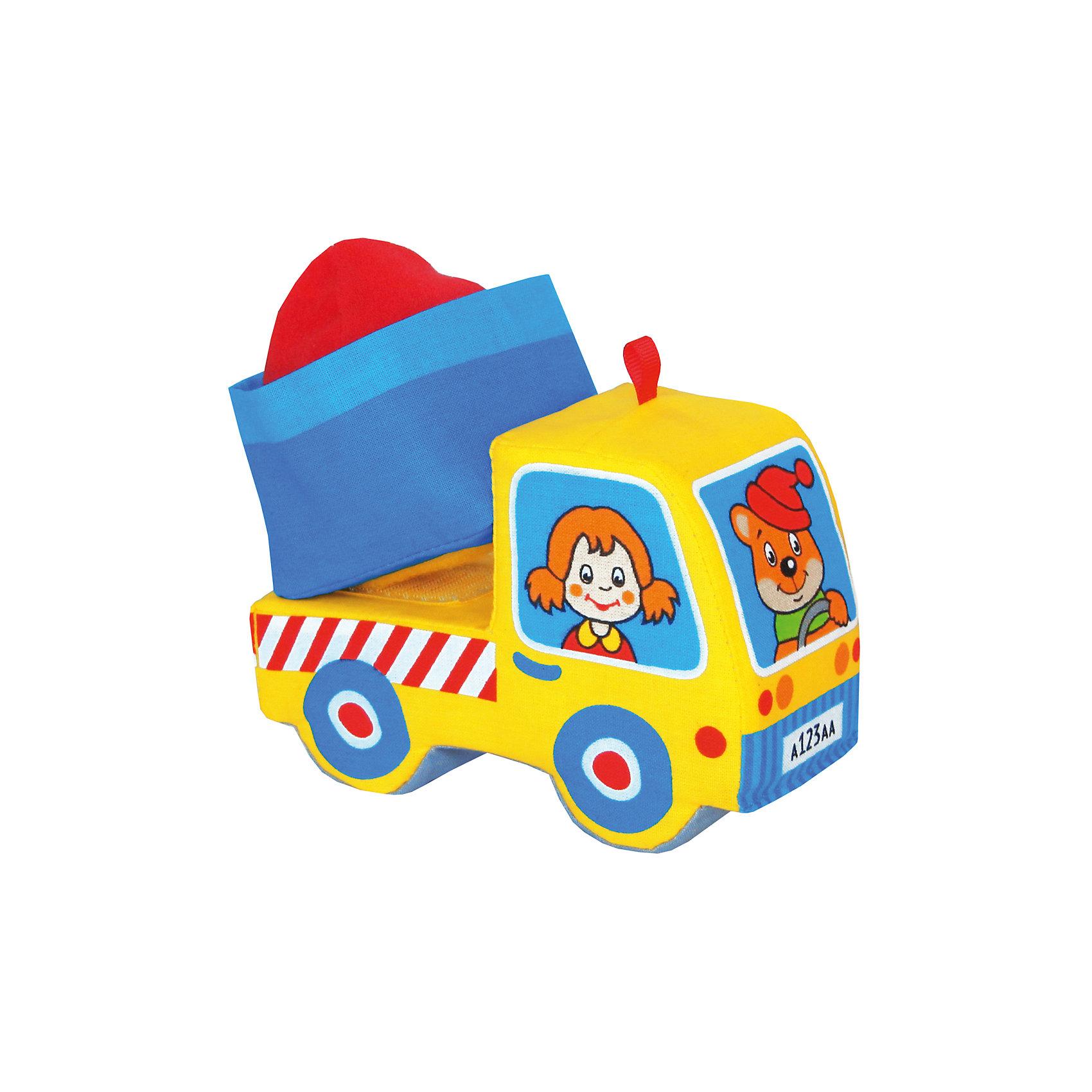 Грузовичок, Мякиши, в ассортиментеКубики<br>Характеристики товара:<br><br>• материал: текстиль<br>• комплектация: 1 шт<br>• размер игрушки: 14х10х6 см<br>• развивающая игрушка<br>• разнофактурный материал<br>• упаковка: пакет<br>• кузов на липучке<br>• страна бренда: РФ<br>• страна изготовитель: РФ<br><br>Малыши активно познают мир и тянутся к новой информации. Чтобы сделать процесс изучения окружающего пространства интереснее, ребенку можно подарить развивающие игрушки. В процессе игры информация усваивается намного лучше!<br>Такие игрушки помогут занять малыша, играть с ними приятно и весело. Игрушка дополнена кузовом на липучке и грузом, набитым гранулами. С ней можно разыграть множество сюжетов! Одновременно она позволит познакомиться с разными цветами и фактурами. Такие игрушки развивают тактильные ощущения, моторику, цветовосприятие, логику, воображение, учат фокусировать внимание. Каждое изделие абсолютно безопасно – оно создано из качественной ткани с мягким наполнителем. Игрушки производятся из качественных и проверенных материалов, которые безопасны для детей.<br><br>Грузовичок от бренда Мякиши можно купить в нашем интернет-магазине.<br><br>Ширина мм: 160<br>Глубина мм: 90<br>Высота мм: 130<br>Вес г: 40<br>Возраст от месяцев: 12<br>Возраст до месяцев: 36<br>Пол: Мужской<br>Возраст: Детский<br>SKU: 5183170