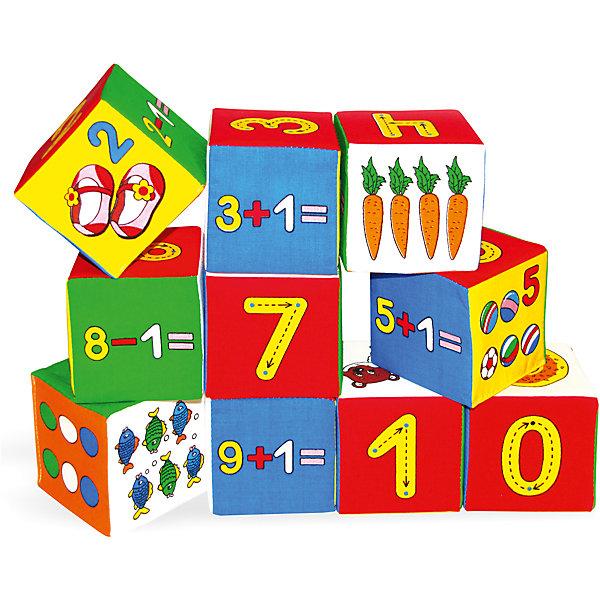 Набор кубиков «Умная математика», МякишиРазвивающие игрушки<br>Характеристики товара:<br><br>• материал: хлопок, поролон<br>• комплектация: 10 кубиков<br>• размер игрушки: 7,5 см<br>• размер упаковки: 20х50 см<br>• развивающая игрушка<br>• упаковка: пакет<br>• страна бренда: РФ<br>• страна изготовитель: РФ<br><br>Малыши активно познают мир и тянутся к новой информации. Чтобы сделать процесс изучения окружающего пространства интереснее, ребенку можно подарить развивающие игрушки. В процессе игры информация усваивается намного лучше!<br>Такие кубики помогут занять малыша, играть ими приятно и весело. Одновременно они позволят познакомиться со многими цветами, фактурами и предметами, которые ребенку предстоит встретить, а также начать осваивать счет. Такие игрушки развивают тактильные ощущения, моторику, цветовосприятие, логику, воображение, учат фокусировать внимание. Каждое изделие абсолютно безопасно – оно создано из качественной ткани с мягким наполнителем. Игрушки производятся из качественных и проверенных материалов, которые безопасны для детей.<br><br>Набор кубиков «Умная математика» от бренда Мякиши можно купить в нашем интернет-магазине.<br><br>Ширина мм: 150<br>Глубина мм: 80<br>Высота мм: 380<br>Вес г: 80<br>Возраст от месяцев: 12<br>Возраст до месяцев: 36<br>Пол: Унисекс<br>Возраст: Детский<br>SKU: 5183174