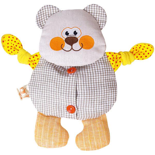 Термоигрушка Доктор Мякиш-Мишутка, МякишиГрелки<br>Характеристики товара:<br><br>• материал: лён, вишнёвые косточки, вышивка, холлофайбер, хлопок<br>• комплектация: 1 шт<br>• размер игрушки: 31х31х5 см<br>• размер упаковки: 31х38х5 см<br>• развивающая игрушка<br>• упаковка: пакет<br>• звуковой элемент внутри<br>• страна бренда: РФ<br>• страна изготовитель: РФ<br><br>Малыши активно познают мир и тянутся к новой информации. Чтобы сделать процесс изучения окружающего пространства интереснее, ребенку можно подарить развивающие игрушки. В процессе игры информация усваивается намного лучше!<br>Такие термоигрушки содержат внутри мешочек с вишневыми косточками, которые можно нагреть или остудить, после чего вложить в игрушку. Также изделия помогут занять малыша, играть с ними приятно и весело. На них можно завязать узлы или разыграть множество сюжетов! Одновременно игрушка позволит познакомиться с разными цветами и фактурами. Такие игрушки развивают тактильные ощущения, моторику, цветовосприятие, логику, воображение, учат фокусировать внимание. Каждое изделие абсолютно безопасно – оно создано из качественной ткани с мягким наполнителем. Игрушки производятся из качественных и проверенных материалов, которые безопасны для детей.<br><br>Термоигрушку Доктор Мякиш-Мишутка от бренда Мякиши можно купить в нашем интернет-магазине.<br>Ширина мм: 310; Глубина мм: 40; Высота мм: 310; Вес г: 150; Возраст от месяцев: 12; Возраст до месяцев: 36; Пол: Унисекс; Возраст: Детский; SKU: 5183175;