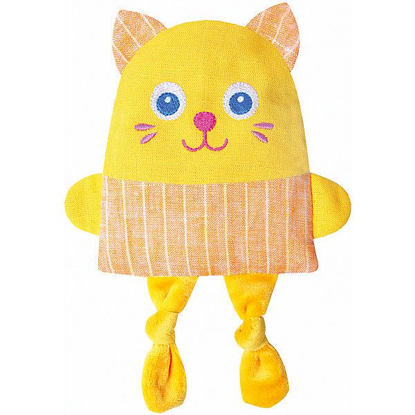 Игрушка Доктор Мякиш Крошка Кот, МякишиМягкие игрушки животные<br>Характеристики товара:<br><br>• материал: лён, вишнёвые косточки, вышивка, холлофайбер, хлопок<br>• комплектация: 1 шт<br>• размер игрушки: 16х28х2,5 см<br>• размер упаковки: 16х22х2,5 см<br>• развивающая игрушка<br>• упаковка: пакет<br>• страна бренда: РФ<br>• страна изготовитель: РФ<br><br>Малыши активно познают мир и тянутся к новой информации. Чтобы сделать процесс изучения окружающего пространства интереснее, ребенку можно подарить развивающие игрушки. В процессе игры информация усваивается намного лучше!<br>Такие термоигрушки содержат внутри мешочек с вишневыми косточками, которые можно нагреть или остудить, после чего вложить в игрушку. Также изделия помогут занять малыша, играть с ними приятно и весело. Одновременно игрушка позволит познакомиться с разными цветами и фактурами. Такие игрушки развивают тактильные ощущения, моторику, цветовосприятие, логику, воображение, учат фокусировать внимание. Каждое изделие абсолютно безопасно – оно создано из качественной ткани с мягким наполнителем. Игрушки производятся из качественных и проверенных материалов, которые безопасны для детей.<br><br>Термоигрушку Доктор Мякиш Крошка Кот от бренда Мякиши можно купить в нашем интернет-магазине.<br><br>Ширина мм: 160<br>Глубина мм: 25<br>Высота мм: 220<br>Вес г: 140<br>Возраст от месяцев: 12<br>Возраст до месяцев: 36<br>Пол: Унисекс<br>Возраст: Детский<br>SKU: 5183176