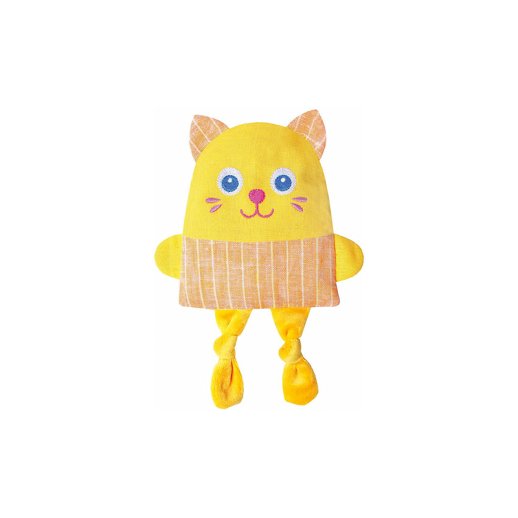 Игрушка Доктор Мякиш Крошка Кот, МякишиХарактеристики товара:<br><br>• материал: лён, вишнёвые косточки, вышивка, холлофайбер, хлопок<br>• комплектация: 1 шт<br>• размер игрушки: 16х28х2,5 см<br>• размер упаковки: 16х22х2,5 см<br>• развивающая игрушка<br>• упаковка: пакет<br>• страна бренда: РФ<br>• страна изготовитель: РФ<br><br>Малыши активно познают мир и тянутся к новой информации. Чтобы сделать процесс изучения окружающего пространства интереснее, ребенку можно подарить развивающие игрушки. В процессе игры информация усваивается намного лучше!<br>Такие термоигрушки содержат внутри мешочек с вишневыми косточками, которые можно нагреть или остудить, после чего вложить в игрушку. Также изделия помогут занять малыша, играть с ними приятно и весело. Одновременно игрушка позволит познакомиться с разными цветами и фактурами. Такие игрушки развивают тактильные ощущения, моторику, цветовосприятие, логику, воображение, учат фокусировать внимание. Каждое изделие абсолютно безопасно – оно создано из качественной ткани с мягким наполнителем. Игрушки производятся из качественных и проверенных материалов, которые безопасны для детей.<br><br>Термоигрушку Доктор Мякиш Крошка Кот от бренда Мякиши можно купить в нашем интернет-магазине.<br><br>Ширина мм: 160<br>Глубина мм: 25<br>Высота мм: 220<br>Вес г: 140<br>Возраст от месяцев: 12<br>Возраст до месяцев: 36<br>Пол: Унисекс<br>Возраст: Детский<br>SKU: 5183176