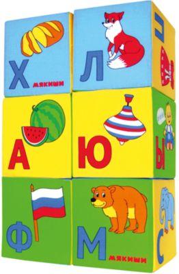 Кубики Азбука в картинках , Мякиши