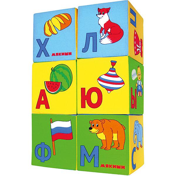 Кубики Азбука в картинках, МякишиРазвивающие игрушки<br>Характеристики товара:<br><br>• материал: хлопок, поролон<br>• комплектация: 6 шт<br>• размер игрушки: 8 см<br>• цветовое разделение букв на гласные и согласные<br>• развивающая игрушка<br>• упаковка: пакет<br>• страна бренда: РФ<br>• страна изготовитель: РФ<br><br>Малыши активно познают мир и тянутся к новой информации. Чтобы сделать процесс изучения окружающего пространства интереснее, ребенку можно подарить развивающие игрушки. В процессе игры информация усваивается намного лучше!<br>Такие кубики помогут занять малыша, играть ими приятно и весело. Одновременно они позволят познакомиться со многими цветами, фактурами и предметами, которые ребенку предстоит встретить, а также начать осваивать алфавит. Такие игрушки развивают тактильные ощущения, моторику, цветовосприятие, логику, воображение, учат фокусировать внимание. Каждое изделие абсолютно безопасно – оно создано из качественной ткани с мягким наполнителем. Игрушки производятся из качественных и проверенных материалов, которые безопасны для детей.<br><br>Кубики Азбука в картинках от бренда Мякиши можно купить в нашем интернет-магазине.<br><br>Ширина мм: 160<br>Глубина мм: 80<br>Высота мм: 240<br>Вес г: 40<br>Возраст от месяцев: 12<br>Возраст до месяцев: 36<br>Пол: Унисекс<br>Возраст: Детский<br>SKU: 5183182