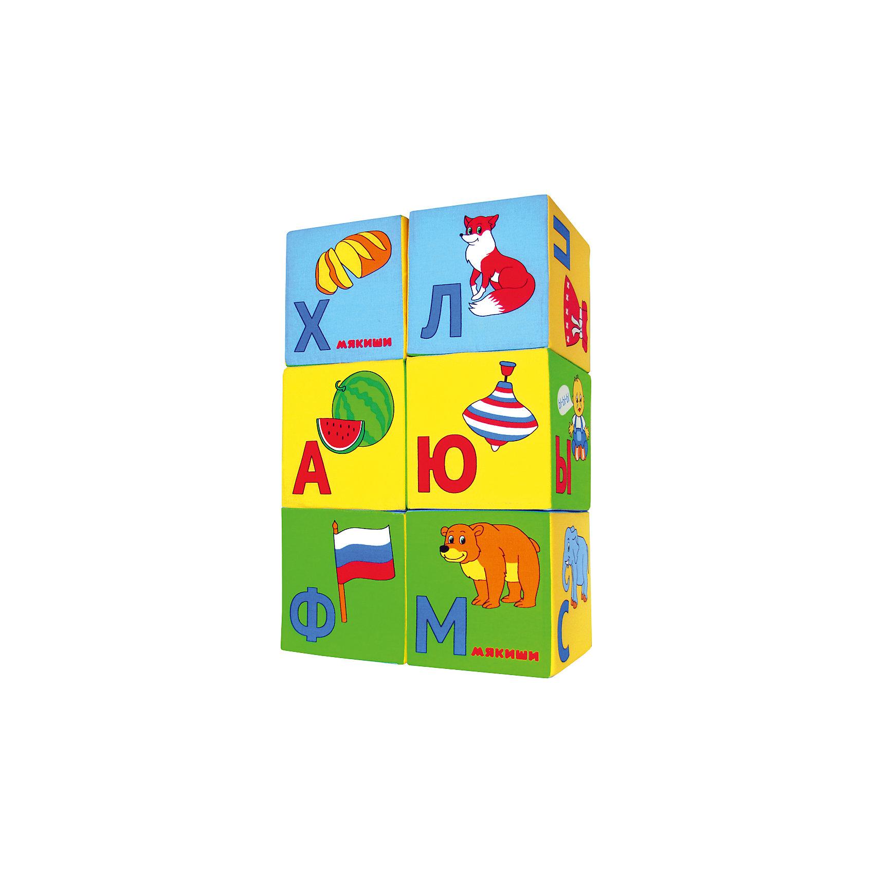 Кубики Азбука в картинках, МякишиМягкие игрушки<br>Характеристики товара:<br><br>• материал: хлопок, поролон<br>• комплектация: 6 шт<br>• размер игрушки: 8 см<br>• цветовое разделение букв на гласные и согласные<br>• развивающая игрушка<br>• упаковка: пакет<br>• страна бренда: РФ<br>• страна изготовитель: РФ<br><br>Малыши активно познают мир и тянутся к новой информации. Чтобы сделать процесс изучения окружающего пространства интереснее, ребенку можно подарить развивающие игрушки. В процессе игры информация усваивается намного лучше!<br>Такие кубики помогут занять малыша, играть ими приятно и весело. Одновременно они позволят познакомиться со многими цветами, фактурами и предметами, которые ребенку предстоит встретить, а также начать осваивать алфавит. Такие игрушки развивают тактильные ощущения, моторику, цветовосприятие, логику, воображение, учат фокусировать внимание. Каждое изделие абсолютно безопасно – оно создано из качественной ткани с мягким наполнителем. Игрушки производятся из качественных и проверенных материалов, которые безопасны для детей.<br><br>Кубики Азбука в картинках от бренда Мякиши можно купить в нашем интернет-магазине.<br><br>Ширина мм: 160<br>Глубина мм: 80<br>Высота мм: 240<br>Вес г: 40<br>Возраст от месяцев: 12<br>Возраст до месяцев: 36<br>Пол: Унисекс<br>Возраст: Детский<br>SKU: 5183182
