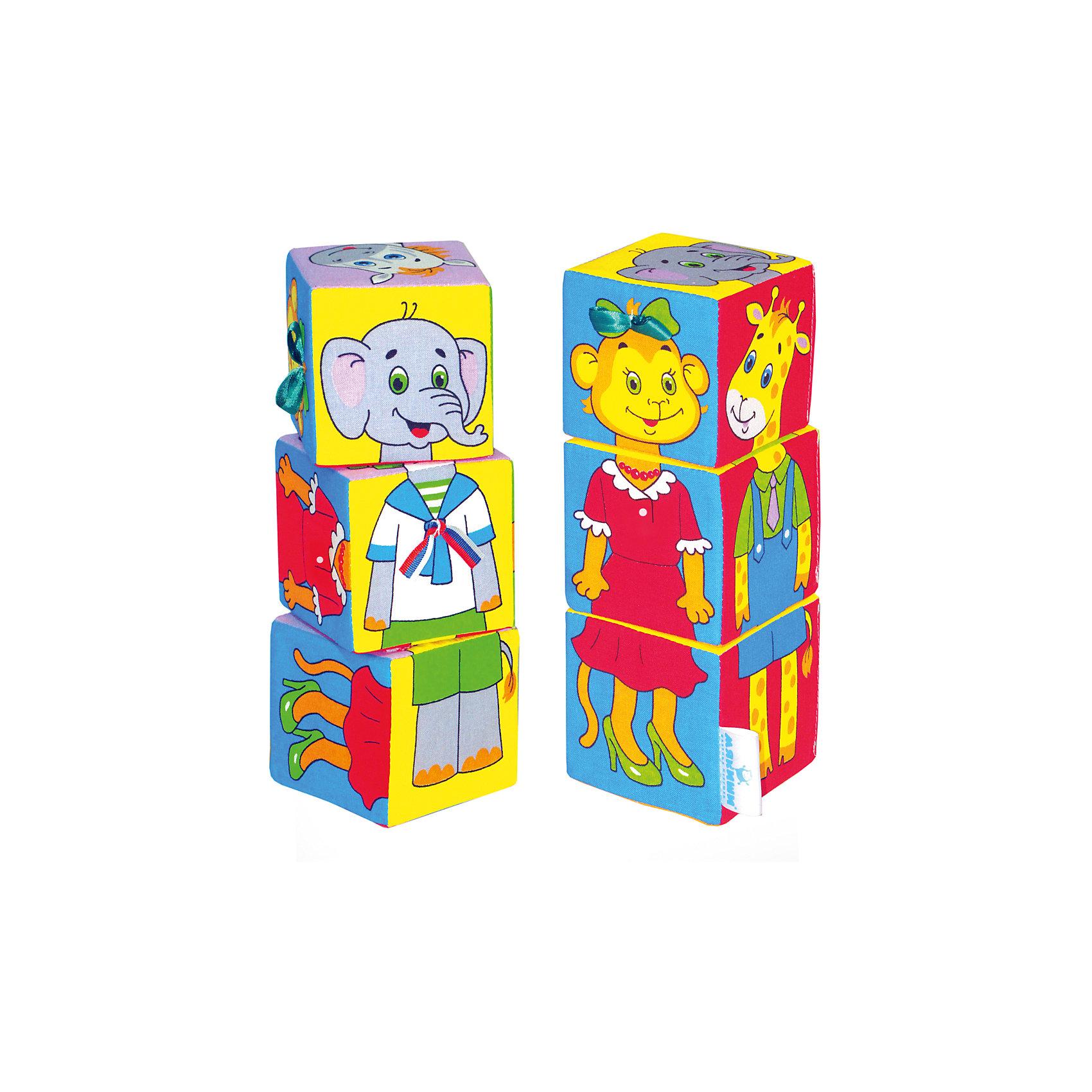 Кубики Собираем по одежке, МякишиХарактеристики товара:<br><br>• материал: хлопок, поролон<br>• комплектация: 3 шт<br>• размер игрушки: 8 см<br>• можно собрать шесть животных в одежде<br>• развивающая игрушка<br>• упаковка: пакет<br>• страна бренда: РФ<br>• страна изготовитель: РФ<br><br>Малыши активно познают мир и тянутся к новой информации. Чтобы сделать процесс изучения окружающего пространства интереснее, ребенку можно подарить развивающие игрушки. В процессе игры информация усваивается намного лучше!<br>Такие кубики помогут занять малыша, играть ими приятно и весело. Одновременно они позволят познакомиться со многими цветами, фактурами и предметами, которые ребенку предстоит встретить, а также из них можно собрать шесть животных в одежде. Такие игрушки развивают тактильные ощущения, моторику, цветовосприятие, логику, воображение, учат фокусировать внимание. Каждое изделие абсолютно безопасно – оно создано из качественной ткани с мягким наполнителем. Игрушки производятся из качественных и проверенных материалов, которые безопасны для детей.<br><br>Кубики Собираем по одежке от бренда Мякиши можно купить в нашем интернет-магазине.<br><br>Ширина мм: 240<br>Глубина мм: 80<br>Высота мм: 80<br>Вес г: 80<br>Возраст от месяцев: 12<br>Возраст до месяцев: 36<br>Пол: Унисекс<br>Возраст: Детский<br>SKU: 5183183
