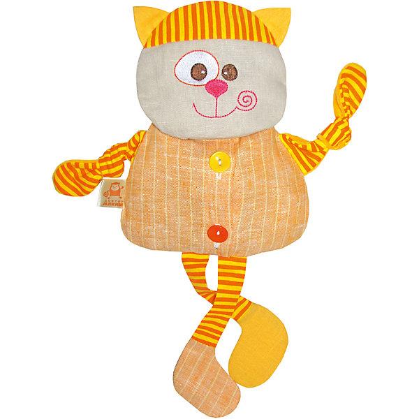 Термоигрушка Доктор Мякиш Кот, МякишиГрелки<br>Характеристики товара:<br><br>• материал: лён, вишнёвые косточки, вышивка, холлофайбер, хлопок<br>• комплектация: 1 шт<br>• размер игрушки: 33х36х5 см<br>• размер упаковки: 33х39х5 см<br>• развивающая игрушка<br>• упаковка: пакет<br>• звуковой элемент внутри<br>• страна бренда: РФ<br>• страна изготовитель: РФ<br><br>Малыши активно познают мир и тянутся к новой информации. Чтобы сделать процесс изучения окружающего пространства интереснее, ребенку можно подарить развивающие игрушки. В процессе игры информация усваивается намного лучше!<br>Такие термоигрушки содержат внутри мешочек с вишневыми косточками, которые можно нагреть или остудить, после чего вложить в игрушку. Также изделия помогут занять малыша, играть с ними приятно и весело. На них можно завязать узлы или разыграть множество сюжетов! Одновременно игрушка позволит познакомиться с разными цветами и фактурами. Такие игрушки развивают тактильные ощущения, моторику, цветовосприятие, логику, воображение, учат фокусировать внимание. Каждое изделие абсолютно безопасно – оно создано из качественной ткани с мягким наполнителем. Игрушки производятся из качественных и проверенных материалов, которые безопасны для детей.<br><br>Термоигрушку Доктор Мякиш Кот от бренда Мякиши можно купить в нашем интернет-магазине.<br>Ширина мм: 350; Глубина мм: 40; Высота мм: 330; Вес г: 150; Возраст от месяцев: 12; Возраст до месяцев: 36; Пол: Унисекс; Возраст: Детский; SKU: 5183186;