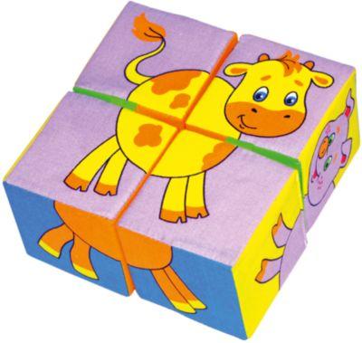 Кубики Собери картинку - животные , Мякиши