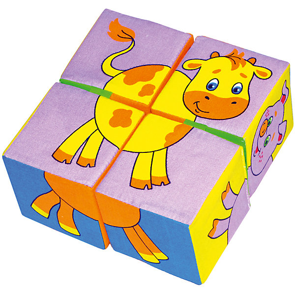 Кубики Собери картинку  - животные, МякишиРазвивающие игрушки<br>Характеристики товара:<br><br>• материал: хлопок, поролон<br>• комплектация: 4 шт<br>• размер игрушки: 8 см<br>• можно собрать шесть животных<br>• развивающая игрушка<br>• упаковка: пакет<br>• страна бренда: РФ<br>• страна изготовитель: РФ<br><br>Малыши активно познают мир и тянутся к новой информации. Чтобы сделать процесс изучения окружающего пространства интереснее, ребенку можно подарить развивающие игрушки. В процессе игры информация усваивается намного лучше!<br>Такие кубики помогут занять малыша, играть ими приятно и весело. Одновременно они позволят познакомиться со многими цветами, фактурами, а также из них можно собрать шесть животных. Такие игрушки развивают тактильные ощущения, моторику, цветовосприятие, логику, воображение, учат фокусировать внимание. Каждое изделие абсолютно безопасно – оно создано из качественной ткани с мягким наполнителем. Игрушки производятся из качественных и проверенных материалов, которые безопасны для детей.<br><br>Кубики Собери картинку - животные от бренда Мякиши можно купить в нашем интернет-магазине.<br><br>Ширина мм: 160<br>Глубина мм: 80<br>Высота мм: 160<br>Вес г: 80<br>Возраст от месяцев: 12<br>Возраст до месяцев: 36<br>Пол: Унисекс<br>Возраст: Детский<br>SKU: 5183187