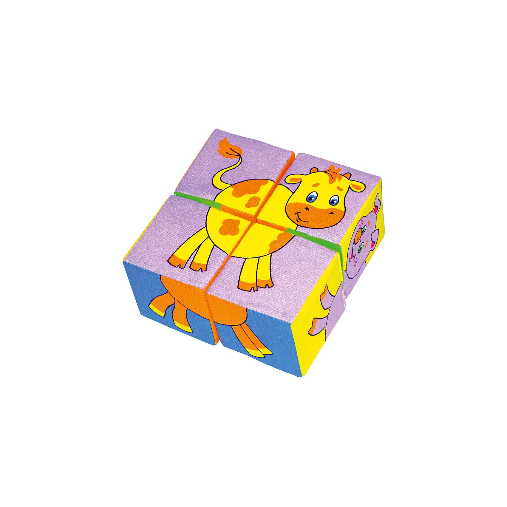 Кубики Собери картинку  - животные, МякишиХарактеристики товара:<br><br>• материал: хлопок, поролон<br>• комплектация: 4 шт<br>• размер игрушки: 8 см<br>• можно собрать шесть животных<br>• развивающая игрушка<br>• упаковка: пакет<br>• страна бренда: РФ<br>• страна изготовитель: РФ<br><br>Малыши активно познают мир и тянутся к новой информации. Чтобы сделать процесс изучения окружающего пространства интереснее, ребенку можно подарить развивающие игрушки. В процессе игры информация усваивается намного лучше!<br>Такие кубики помогут занять малыша, играть ими приятно и весело. Одновременно они позволят познакомиться со многими цветами, фактурами, а также из них можно собрать шесть животных. Такие игрушки развивают тактильные ощущения, моторику, цветовосприятие, логику, воображение, учат фокусировать внимание. Каждое изделие абсолютно безопасно – оно создано из качественной ткани с мягким наполнителем. Игрушки производятся из качественных и проверенных материалов, которые безопасны для детей.<br><br>Кубики Собери картинку - животные от бренда Мякиши можно купить в нашем интернет-магазине.<br><br>Ширина мм: 160<br>Глубина мм: 80<br>Высота мм: 160<br>Вес г: 80<br>Возраст от месяцев: 12<br>Возраст до месяцев: 36<br>Пол: Унисекс<br>Возраст: Детский<br>SKU: 5183187