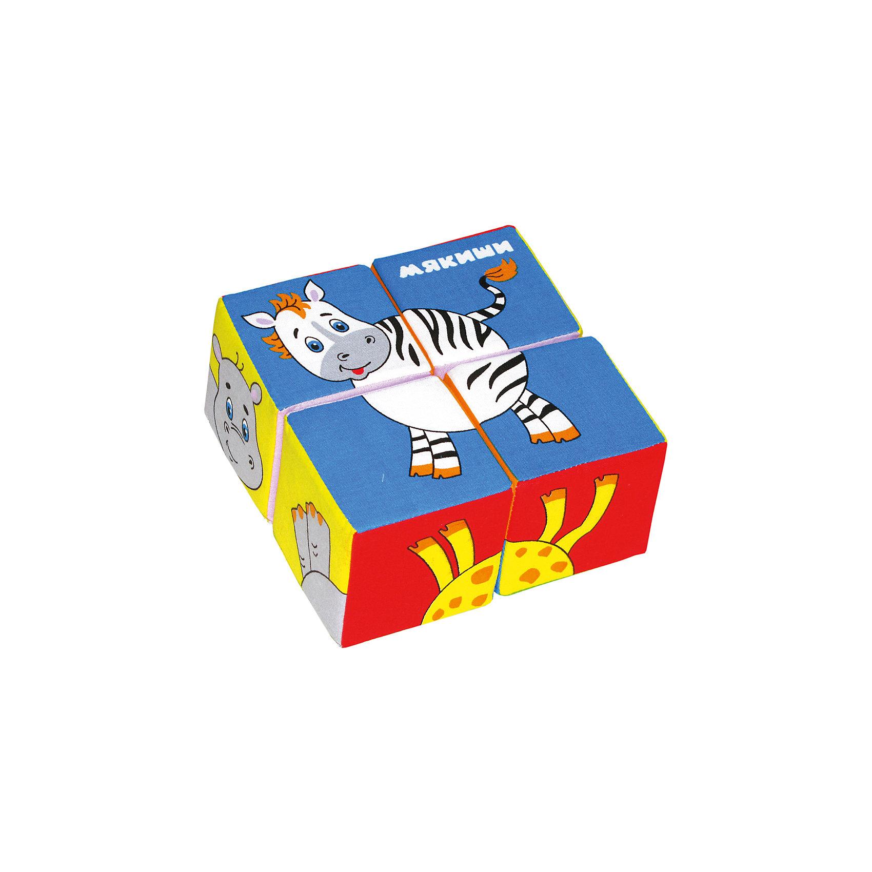 Кубики Собери картинку - животные Африки, МякишиКубики<br>Характеристики товара:<br><br>• цвет: разноцветный<br>• материал: хлопок, поролон<br>• комплектация: 4 шт<br>• размер игрушки: 8 см<br>• можно собрать шесть животных<br>• развивающая игрушка<br>• упаковка: пакет<br>• страна бренда: РФ<br>• страна изготовитель: РФ<br><br>Малыши активно познают мир и тянутся к новой информации. Чтобы сделать процесс изучения окружающего пространства интереснее, ребенку можно подарить развивающие игрушки. В процессе игры информация усваивается намного лучше!<br>Такие кубики помогут занять малыша, играть ими приятно и весело. Одновременно они позволят познакомиться со многими цветами, фактурами, а также из них можно собрать шесть животных. Такие игрушки развивают тактильные ощущения, моторику, цветовосприятие, логику, воображение, учат фокусировать внимание. Каждое изделие абсолютно безопасно – оно создано из качественной ткани с мягким наполнителем. Игрушки производятся из качественных и проверенных материалов, которые безопасны для детей.<br><br>Кубики Собери картинку - животные Африки от бренда Мякиши можно купить в нашем интернет-магазине.<br><br>Ширина мм: 160<br>Глубина мм: 80<br>Высота мм: 160<br>Вес г: 80<br>Возраст от месяцев: 12<br>Возраст до месяцев: 36<br>Пол: Унисекс<br>Возраст: Детский<br>SKU: 5183189