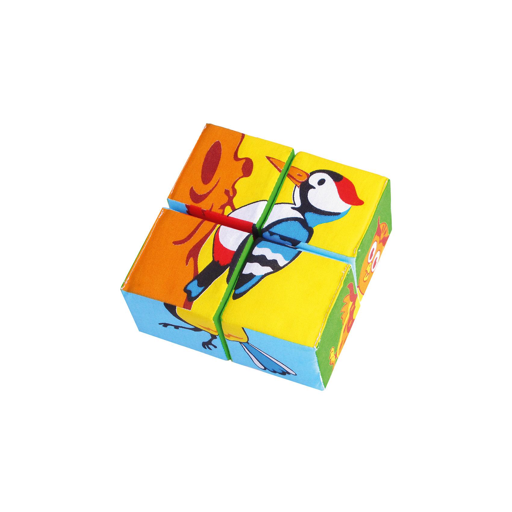 Кубики Собери картинку - птицы, МякишиМягкие игрушки<br>Характеристики товара:<br><br>• материал: хлопок, поролон<br>• комплектация: 4 шт<br>• размер игрушки: 6 см<br>• можно собрать шесть птиц<br>• развивающая игрушка<br>• упаковка: пакет<br>• страна бренда: РФ<br>• страна изготовитель: РФ<br><br>Малыши активно познают мир и тянутся к новой информации. Чтобы сделать процесс изучения окружающего пространства интереснее, ребенку можно подарить развивающие игрушки. В процессе игры информация усваивается намного лучше!<br>Такие кубики помогут занять малыша, играть ими приятно и весело. Одновременно они позволят познакомиться со многими цветами, фактурами, а также из них можно собрать шесть птиц. Такие игрушки развивают тактильные ощущения, моторику, цветовосприятие, логику, воображение, учат фокусировать внимание. Каждое изделие абсолютно безопасно – оно создано из качественной ткани с мягким наполнителем. Игрушки производятся из качественных и проверенных материалов, которые безопасны для детей.<br><br>Кубики Собери картинку - птицы от бренда Мякиши можно купить в нашем интернет-магазине.<br><br>Ширина мм: 120<br>Глубина мм: 60<br>Высота мм: 120<br>Вес г: 80<br>Возраст от месяцев: 12<br>Возраст до месяцев: 36<br>Пол: Унисекс<br>Возраст: Детский<br>SKU: 5183192