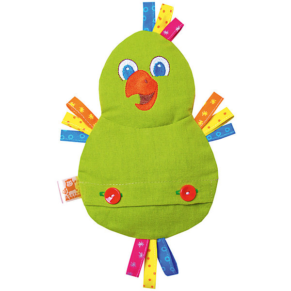 Игрушка на руку Доктор Мякиш-Попугай, МякишиМягкие игрушки на руку<br>Характеристики товара:<br><br>• материал: лён, вишнёвые косточки, вышивка, холлофайбер, хлопок<br>• комплектация: 1 шт<br>• размер игрушки: 18х27х4 см<br>• размер упаковки: 18х32х4 см<br>• развивающая игрушка<br>• упаковка: ламинированный картонный холдер<br>• вишневые косточки внутри<br>• страна бренда: РФ<br>• страна изготовитель: РФ<br><br>Малыши активно познают мир и тянутся к новой информации. Чтобы сделать процесс изучения окружающего пространства интереснее, ребенку можно подарить развивающие игрушки. В процессе игры информация усваивается намного лучше!<br>Такие термоигрушки содержат внутри мешочек с вишневыми косточками, которые можно нагреть или остудить, после чего вложить в игрушку. Также изделия помогут занять малыша, играть с ними приятно и весело. Одновременно игрушка позволит познакомиться с разными цветами и фактурами. Такие игрушки развивают тактильные ощущения, моторику, цветовосприятие, логику, воображение, учат фокусировать внимание. Каждое изделие абсолютно безопасно – оно создано из качественной ткани с мягким наполнителем. Игрушки производятся из качественных и проверенных материалов, которые безопасны для детей.<br><br>Термоигрушку Доктор Мякиш-Попугай от бренда Мякиши можно купить в нашем интернет-магазине.<br><br>Ширина мм: 270<br>Глубина мм: 40<br>Высота мм: 180<br>Вес г: 150<br>Возраст от месяцев: 12<br>Возраст до месяцев: 36<br>Пол: Унисекс<br>Возраст: Детский<br>SKU: 5183193