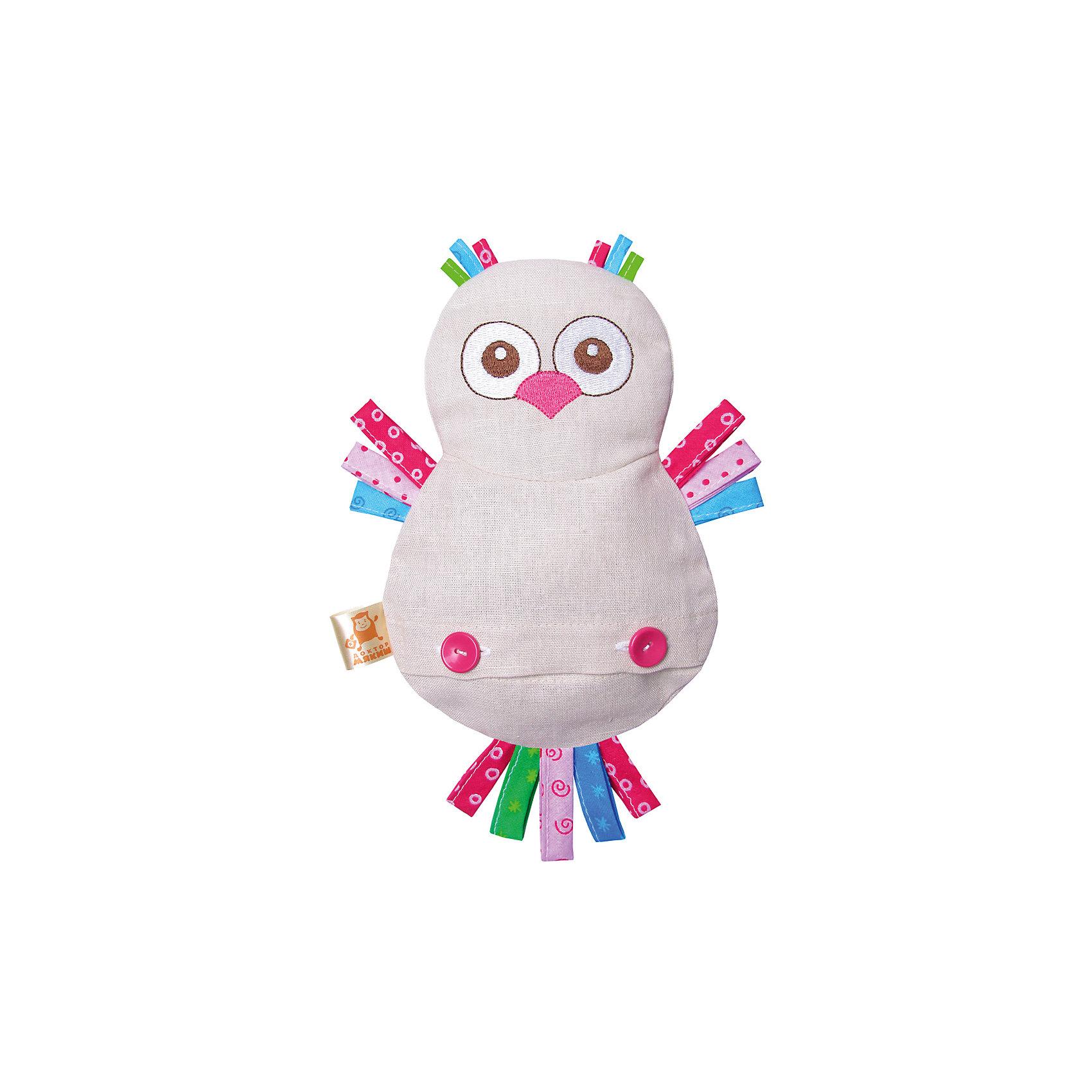 Игрушка на руку Доктор Мякиш-Сова, МякишиМягкие игрушки на руку<br>Характеристики товара:<br><br>• материал: лён, вишнёвые косточки, вышивка, холлофайбер, хлопок<br>• комплектация: 1 шт<br>• размер игрушки: 18х27х4 см<br>• размер упаковки: 18х32х4 см<br>• развивающая игрушка<br>• упаковка: ламинированный картонный холдер<br>• вишневые косточки внутри<br>• страна бренда: РФ<br>• страна изготовитель: РФ<br><br>Малыши активно познают мир и тянутся к новой информации. Чтобы сделать процесс изучения окружающего пространства интереснее, ребенку можно подарить развивающие игрушки. В процессе игры информация усваивается намного лучше!<br>Такие термоигрушки содержат внутри мешочек с вишневыми косточками, которые можно нагреть или остудить, после чего вложить в игрушку. Также изделия помогут занять малыша, играть с ними приятно и весело. Одновременно игрушка позволит познакомиться с разными цветами и фактурами. Такие игрушки развивают тактильные ощущения, моторику, цветовосприятие, логику, воображение, учат фокусировать внимание. Каждое изделие абсолютно безопасно – оно создано из качественной ткани с мягким наполнителем. Игрушки производятся из качественных и проверенных материалов, которые безопасны для детей.<br><br>Термоигрушку Доктор Мякиш-Сова от бренда Мякиши можно купить в нашем интернет-магазине.<br><br>Ширина мм: 310<br>Глубина мм: 40<br>Высота мм: 310<br>Вес г: 150<br>Возраст от месяцев: 12<br>Возраст до месяцев: 36<br>Пол: Унисекс<br>Возраст: Детский<br>SKU: 5183194