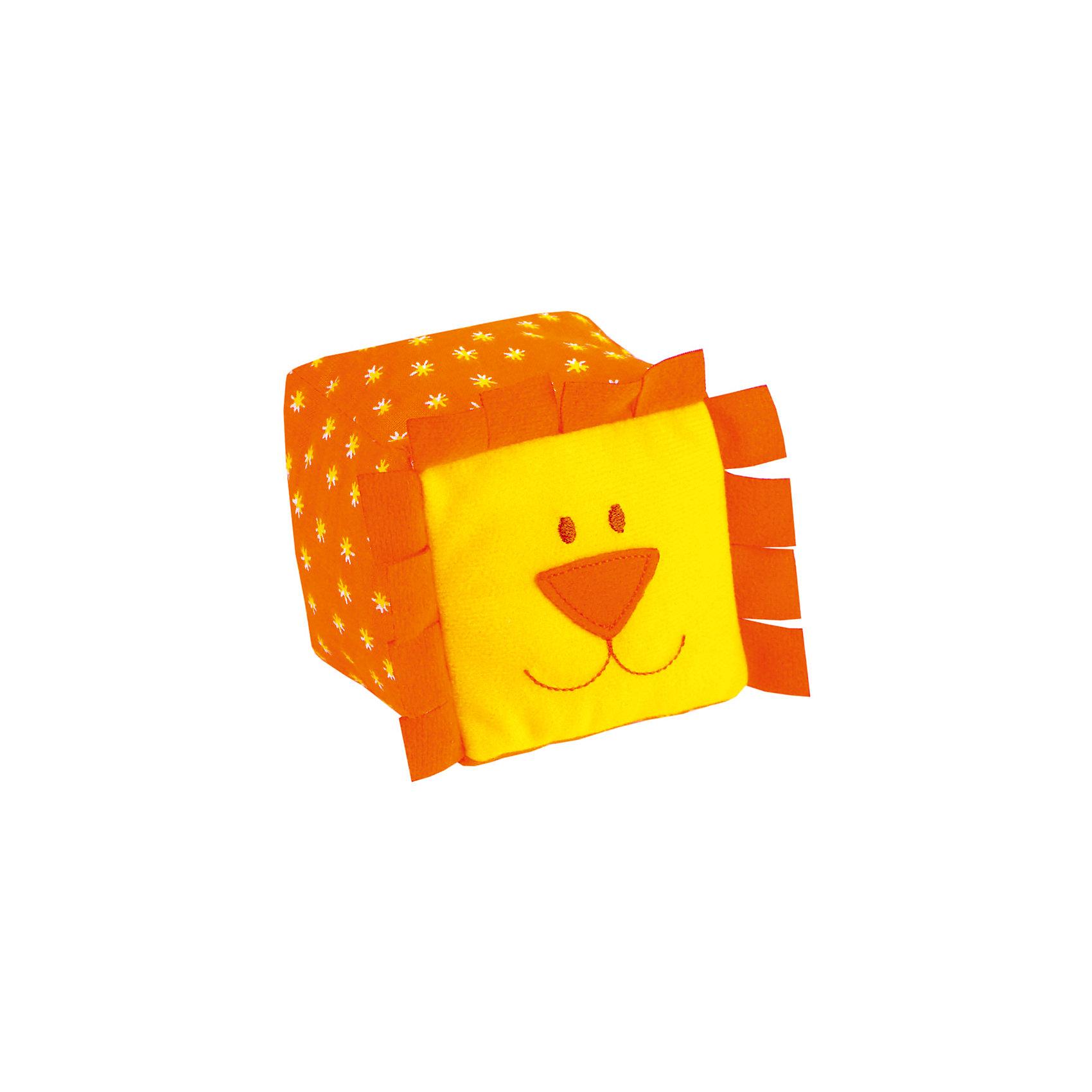 Кубики ЗооМякиши Львенок, МякишиХарактеристики товара:<br><br>• материал: трикотаж, холлофайбер<br>• комплектация: 1 шт<br>• размер игрушки: 8х8 см<br>• звуковой элемент<br>• развивающая игрушка<br>• упаковка: пакет<br>• страна бренда: РФ<br>• страна изготовитель: РФ<br><br>Малыши активно познают мир и тянутся к новой информации. Чтобы сделать процесс изучения окружающего пространства интереснее, ребенку можно подарить развивающие игрушки. В процессе игры информация усваивается намного лучше!<br>Такие кубики помогут занять малыша, играть ими приятно и весело. Одновременно они позволят познакомиться со многими цветами, фактурами, а также научить извлекать звук. Такие игрушки развивают тактильные ощущения, моторику, цветовосприятие, логику, воображение, учат фокусировать внимание. Каждое изделие абсолютно безопасно – оно создано из качественной ткани с мягким наполнителем. Игрушки производятся из качественных и проверенных материалов, которые безопасны для детей.<br><br>Кубики ЗооМякиши Львенок от бренда Мякиши можно купить в нашем интернет-магазине.<br><br>Ширина мм: 80<br>Глубина мм: 80<br>Высота мм: 80<br>Вес г: 40<br>Возраст от месяцев: 12<br>Возраст до месяцев: 36<br>Пол: Унисекс<br>Возраст: Детский<br>SKU: 5183197