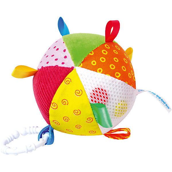 Мячик с петельками, МякишиИгрушки для новорожденных<br>Характеристики товара:<br><br>• материал: разнофактурный текстиль, холлофайбер, пластмасса<br>• комплектация: 1 шт<br>• размер игрушки: 10 см<br>• звуковой элемент<br>• развивающая игрушка<br>• упаковка: пламинированный картонный холдер<br>• страна бренда: РФ<br>• страна изготовитель: РФ<br><br>Малыши активно познают мир и тянутся к новой информации. Чтобы сделать процесс изучения окружающего пространства интереснее, ребенку можно подарить развивающие игрушки. В процессе игры информация усваивается намного лучше!<br>Такие игрушки помогут занять малыша, играть ими приятно и весело. Одновременно они позволят познакомиться со многими цветами, фактурами, а также научиться извлекать звук. Подобные игрушки развивают тактильные ощущения, моторику, цветовосприятие, логику, воображение, учат фокусировать внимание. Каждое изделие абсолютно безопасно – оно создано из качественной ткани с мягким наполнителем. Игрушки производятся из качественных и проверенных материалов, которые безопасны для детей.<br><br>Мячик с петельками от бренда Мякиши можно купить в нашем интернет-магазине.<br><br>Ширина мм: 100<br>Глубина мм: 100<br>Высота мм: 100<br>Вес г: 80<br>Возраст от месяцев: 12<br>Возраст до месяцев: 36<br>Пол: Унисекс<br>Возраст: Детский<br>SKU: 5183199