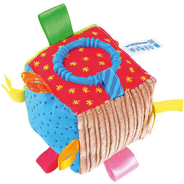 Кубик с петельками, МякишиРазвивающие игрушки<br>Характеристики товара:<br><br>• материал: разнофактурный текстиль, холлофайбер, пластмасса<br>• комплектация: 1 шт<br>• размер игрушки: 10 см<br>• звуковой элемент<br>• развивающая игрушка<br>• упаковка: ламинированный картонный холдер<br>• страна бренда: РФ<br>• страна изготовитель: РФ<br><br>Малыши активно познают мир и тянутся к новой информации. Чтобы сделать процесс изучения окружающего пространства интереснее, ребенку можно подарить развивающие игрушки. В процессе игры информация усваивается намного лучше!<br>Такие игрушки помогут занять малыша, играть ими приятно и весело. Одновременно они позволят познакомиться со многими цветами, фактурами, а также научиться извлекать звук. Подобные игрушки развивают тактильные ощущения, моторику, цветовосприятие, логику, воображение, учат фокусировать внимание. Каждое изделие абсолютно безопасно – оно создано из качественной ткани с мягким наполнителем. Игрушки производятся из качественных и проверенных материалов, которые безопасны для детей.<br><br>Кубик с петельками от бренда Мякиши можно купить в нашем интернет-магазине.<br><br>Ширина мм: 100<br>Глубина мм: 100<br>Высота мм: 100<br>Вес г: 80<br>Возраст от месяцев: 12<br>Возраст до месяцев: 36<br>Пол: Унисекс<br>Возраст: Детский<br>SKU: 5183200