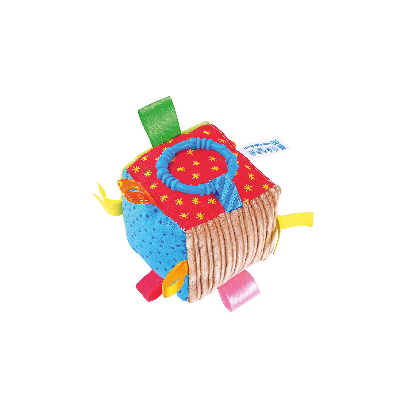 Кубик с петельками, МякишиХарактеристики товара:<br><br>• материал: разнофактурный текстиль, холлофайбер, пластмасса<br>• комплектация: 1 шт<br>• размер игрушки: 10 см<br>• звуковой элемент<br>• развивающая игрушка<br>• упаковка: ламинированный картонный холдер<br>• страна бренда: РФ<br>• страна изготовитель: РФ<br><br>Малыши активно познают мир и тянутся к новой информации. Чтобы сделать процесс изучения окружающего пространства интереснее, ребенку можно подарить развивающие игрушки. В процессе игры информация усваивается намного лучше!<br>Такие игрушки помогут занять малыша, играть ими приятно и весело. Одновременно они позволят познакомиться со многими цветами, фактурами, а также научиться извлекать звук. Подобные игрушки развивают тактильные ощущения, моторику, цветовосприятие, логику, воображение, учат фокусировать внимание. Каждое изделие абсолютно безопасно – оно создано из качественной ткани с мягким наполнителем. Игрушки производятся из качественных и проверенных материалов, которые безопасны для детей.<br><br>Кубик с петельками от бренда Мякиши можно купить в нашем интернет-магазине.<br><br>Ширина мм: 100<br>Глубина мм: 100<br>Высота мм: 100<br>Вес г: 80<br>Возраст от месяцев: 12<br>Возраст до месяцев: 36<br>Пол: Унисекс<br>Возраст: Детский<br>SKU: 5183200
