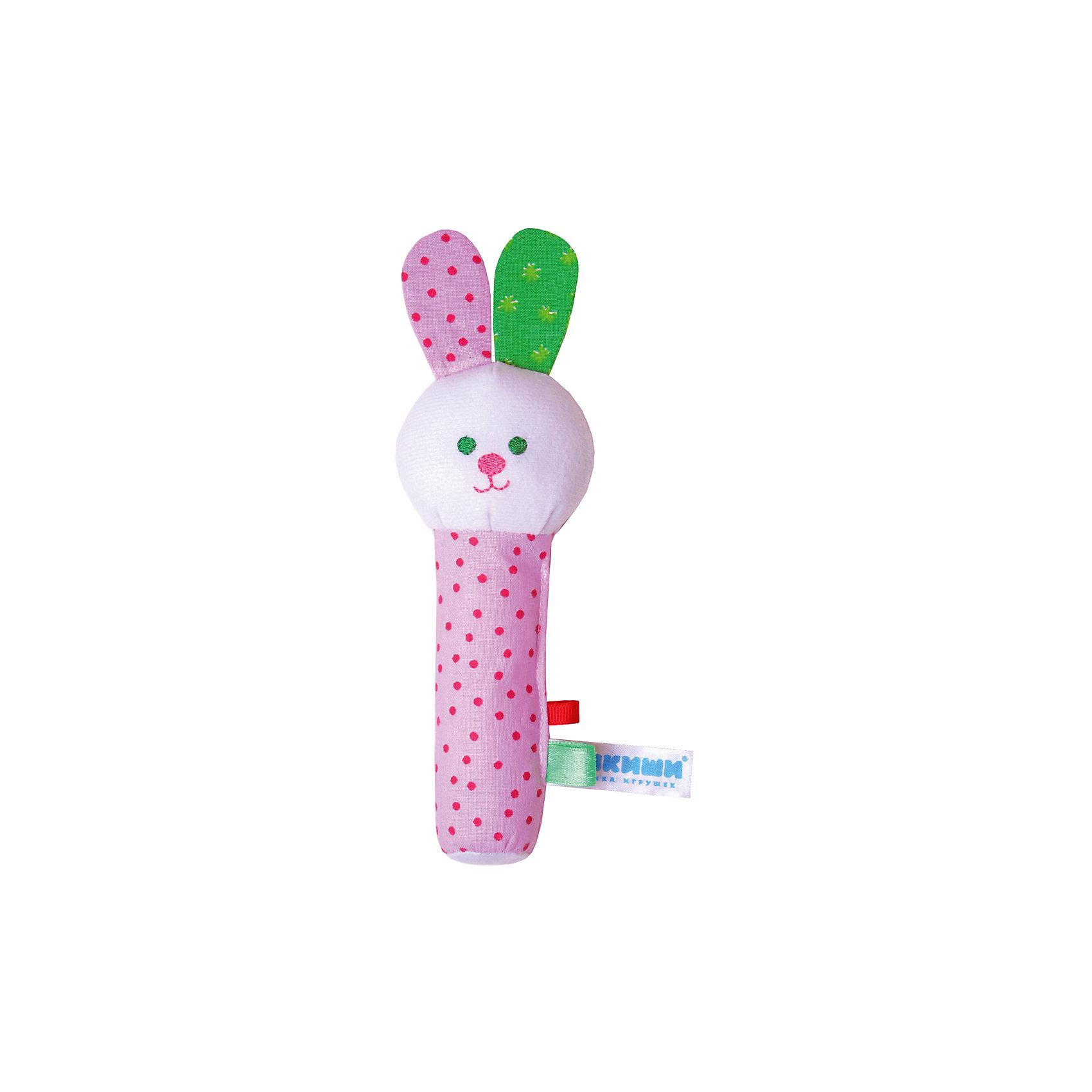 Игрушка Зайка, МякишиМягкие игрушки<br>Характеристики товара:<br><br>• материал: разнофактурный текстиль, холлофайбер<br>• комплектация: 1 шт<br>• размер игрушки: 17 х7 см<br>• звуковой элемент<br>• развивающая игрушка<br>• упаковка: ламинированный картонный холдер<br>• страна бренда: РФ<br>• страна изготовитель: РФ<br><br>Малыши активно познают мир и тянутся к новой информации. Чтобы сделать процесс изучения окружающего пространства интереснее, ребенку можно подарить развивающие игрушки. В процессе игры информация усваивается намного лучше!<br>Такие игрушки помогут занять малыша, играть ими приятно и весело. Одновременно они позволят познакомиться со многими цветами, фактурами, а также научиться извлекать звук. Подобные игрушки развивают тактильные ощущения, моторику, цветовосприятие, логику, воображение, учат фокусировать внимание. Каждое изделие абсолютно безопасно – оно создано из качественной ткани с мягким наполнителем. Игрушки производятся из качественных и проверенных материалов, которые безопасны для детей.<br><br>Игрушку Зайка от бренда Мякиши можно купить в нашем интернет-магазине.<br><br>Ширина мм: 170<br>Глубина мм: 40<br>Высота мм: 70<br>Вес г: 40<br>Возраст от месяцев: 12<br>Возраст до месяцев: 36<br>Пол: Унисекс<br>Возраст: Детский<br>SKU: 5183201