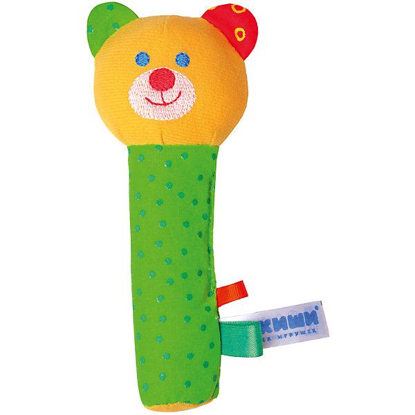 Игрушка Миша, МякишиМягкие игрушки на руку<br>Характеристики товара:<br><br>• материал: разнофактурный текстиль, холлофайбер<br>• комплектация: 1 шт<br>• размер игрушки: 18х9х5 см<br>• звуковой элемент<br>• развивающая игрушка<br>• упаковка: ламинированный картонный холдер<br>• страна бренда: РФ<br>• страна изготовитель: РФ<br><br>Малыши активно познают мир и тянутся к новой информации. Чтобы сделать процесс изучения окружающего пространства интереснее, ребенку можно подарить развивающие игрушки. В процессе игры информация усваивается намного лучше!<br>Такие игрушки помогут занять малыша, играть ими приятно и весело. Одновременно они позволят познакомиться со многими цветами, фактурами, а также научиться извлекать звук. Подобные игрушки развивают тактильные ощущения, моторику, цветовосприятие, логику, воображение, учат фокусировать внимание. Каждое изделие абсолютно безопасно – оно создано из качественной ткани с мягким наполнителем. Игрушки производятся из качественных и проверенных материалов, которые безопасны для детей.<br><br>Игрушку Миша от бренда Мякиши можно купить в нашем интернет-магазине.<br>Ширина мм: 170; Глубина мм: 40; Высота мм: 70; Вес г: 40; Возраст от месяцев: 12; Возраст до месяцев: 36; Пол: Унисекс; Возраст: Детский; SKU: 5183202;