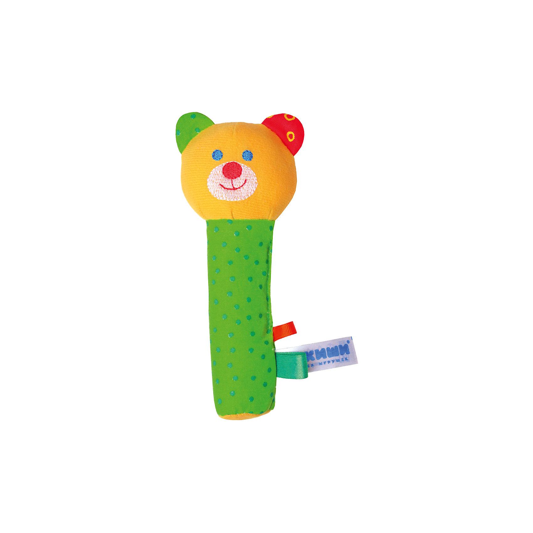 Игрушка Миша, МякишиМягкие игрушки<br>Характеристики товара:<br><br>• материал: разнофактурный текстиль, холлофайбер<br>• комплектация: 1 шт<br>• размер игрушки: 18х9х5 см<br>• звуковой элемент<br>• развивающая игрушка<br>• упаковка: ламинированный картонный холдер<br>• страна бренда: РФ<br>• страна изготовитель: РФ<br><br>Малыши активно познают мир и тянутся к новой информации. Чтобы сделать процесс изучения окружающего пространства интереснее, ребенку можно подарить развивающие игрушки. В процессе игры информация усваивается намного лучше!<br>Такие игрушки помогут занять малыша, играть ими приятно и весело. Одновременно они позволят познакомиться со многими цветами, фактурами, а также научиться извлекать звук. Подобные игрушки развивают тактильные ощущения, моторику, цветовосприятие, логику, воображение, учат фокусировать внимание. Каждое изделие абсолютно безопасно – оно создано из качественной ткани с мягким наполнителем. Игрушки производятся из качественных и проверенных материалов, которые безопасны для детей.<br><br>Игрушку Миша от бренда Мякиши можно купить в нашем интернет-магазине.<br><br>Ширина мм: 170<br>Глубина мм: 40<br>Высота мм: 70<br>Вес г: 40<br>Возраст от месяцев: 12<br>Возраст до месяцев: 36<br>Пол: Унисекс<br>Возраст: Детский<br>SKU: 5183202
