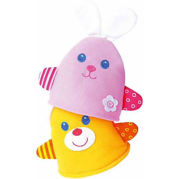 Игрушка-потешка Мишка с Зайкой, МякишиМягкие игрушки на руку<br>Характеристики товара:<br><br>• материал: трикотаж, синтепон<br>• комплектация: зайка и мишка<br>• размер игрушки: 14х14 см<br>• разные фактуры<br>• пищалка в одной игрушке<br>• развивающая игрушка<br>• упаковка: пакет<br>• страна бренда: РФ<br>• страна изготовитель: РФ<br><br>Малыши активно познают мир и тянутся к новой информации. Чтобы сделать процесс изучения окружающего пространства интереснее, ребенку можно подарить развивающие игрушки. В процессе игры информация усваивается намного лучше!<br>Такие игрушки помогут занять малыша, играть с ними приятно и весело. Игрушка имеет универсальный размер - она отлично сядет по детской ручке или поможет спрятать предмет. С ней можно разыграть множество сюжетов! Одновременно она позволит познакомиться с разными цветами и фактурами. Такие игрушки развивают тактильные ощущения, моторику, цветовосприятие, логику, воображение, учат фокусировать внимание. Каждое изделие абсолютно безопасно – оно создано из качественной ткани с мягким наполнителем. Игрушки производятся из качественных и проверенных материалов, которые безопасны для детей.<br><br>Игрушку-потешку Мишка с Зайкой от бренда Мякиши можно купить в нашем интернет-магазине.<br><br>Ширина мм: 350<br>Глубина мм: 160<br>Высота мм: 80<br>Вес г: 40<br>Возраст от месяцев: 12<br>Возраст до месяцев: 36<br>Пол: Унисекс<br>Возраст: Детский<br>SKU: 5183207