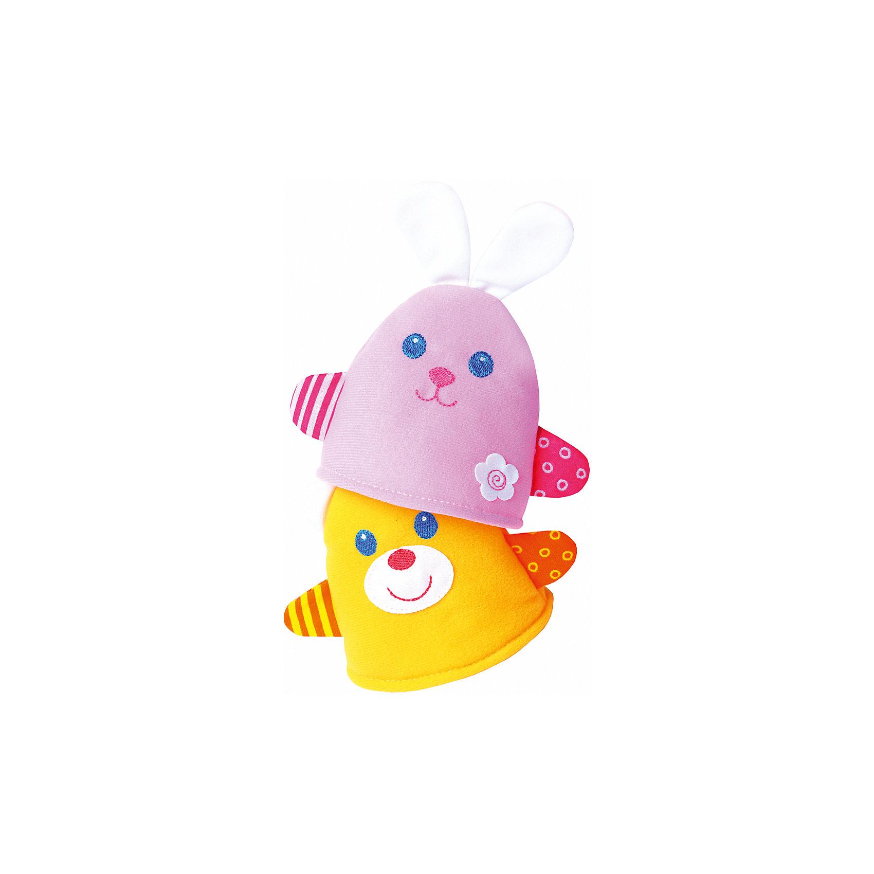 Игрушка-потешка Мишка с Зайкой, МякишиМягкие игрушки<br>Характеристики товара:<br><br>• материал: трикотаж, синтепон<br>• комплектация: зайка и мишка<br>• размер игрушки: 14х14 см<br>• разные фактуры<br>• пищалка в одной игрушке<br>• развивающая игрушка<br>• упаковка: пакет<br>• страна бренда: РФ<br>• страна изготовитель: РФ<br><br>Малыши активно познают мир и тянутся к новой информации. Чтобы сделать процесс изучения окружающего пространства интереснее, ребенку можно подарить развивающие игрушки. В процессе игры информация усваивается намного лучше!<br>Такие игрушки помогут занять малыша, играть с ними приятно и весело. Игрушка имеет универсальный размер - она отлично сядет по детской ручке или поможет спрятать предмет. С ней можно разыграть множество сюжетов! Одновременно она позволит познакомиться с разными цветами и фактурами. Такие игрушки развивают тактильные ощущения, моторику, цветовосприятие, логику, воображение, учат фокусировать внимание. Каждое изделие абсолютно безопасно – оно создано из качественной ткани с мягким наполнителем. Игрушки производятся из качественных и проверенных материалов, которые безопасны для детей.<br><br>Игрушку-потешку Мишка с Зайкой от бренда Мякиши можно купить в нашем интернет-магазине.<br><br>Ширина мм: 350<br>Глубина мм: 160<br>Высота мм: 80<br>Вес г: 40<br>Возраст от месяцев: 12<br>Возраст до месяцев: 36<br>Пол: Унисекс<br>Возраст: Детский<br>SKU: 5183207