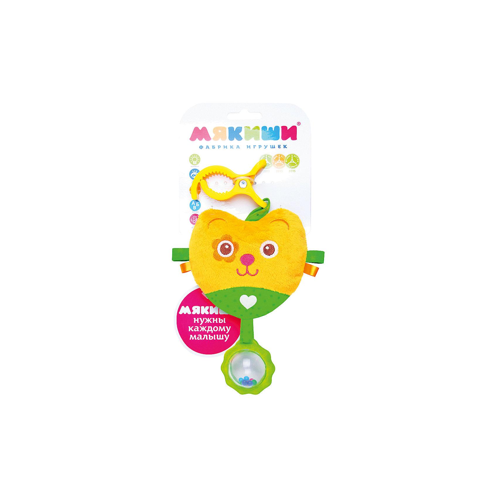 Подвеска Мишка, МякишиХарактеристики товара:<br><br>• материал: разнофактурный текстиль, холлофайбер<br>• комплектация: 1 шт<br>• размер игрушки: 16х29х4 см<br>• звуковой элемент<br>• клипса для крепления<br>• прорезыватель<br>• развивающая игрушка<br>• упаковка: ламинированный картонный холдер<br>• страна бренда: РФ<br>• страна изготовитель: РФ<br><br>Малыши активно познают мир и тянутся к новой информации. Чтобы сделать процесс изучения окружающего пространства интереснее, ребенку можно подарить развивающие игрушки. В процессе игры информация усваивается намного лучше!<br>Такие игрушки помогут занять малыша, играть ими приятно и весело. Одновременно они позволят познакомиться со многими цветами, фактурами, а также научиться извлекать звук. Подобные игрушки развивают тактильные ощущения, моторику, цветовосприятие, логику, воображение, учат фокусировать внимание. Каждое изделие абсолютно безопасно – оно создано из качественной ткани с мягким наполнителем. Игрушки производятся из качественных и проверенных материалов, которые безопасны для детей.<br><br>Подвеску Мишка от бренда Мякиши можно купить в нашем интернет-магазине.<br><br>Ширина мм: 320<br>Глубина мм: 160<br>Высота мм: 40<br>Вес г: 40<br>Возраст от месяцев: 12<br>Возраст до месяцев: 36<br>Пол: Унисекс<br>Возраст: Детский<br>SKU: 5183208