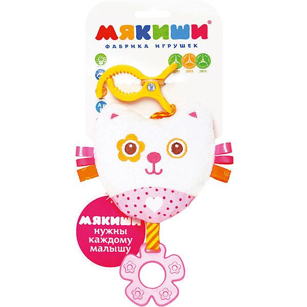 Подвеска Котенок, МякишиИгрушки для новорожденных<br>Характеристики товара:<br><br>• материал: разнофактурный текстиль, холлофайбер<br>• комплектация: 1 шт<br>• размер игрушки: 16х29х4 см<br>• звуковой элемент<br>• клипса для крепления<br>• прорезыватель<br>• развивающая игрушка<br>• упаковка: ламинированный картонный холдер<br>• страна бренда: РФ<br>• страна изготовитель: РФ<br><br>Малыши активно познают мир и тянутся к новой информации. Чтобы сделать процесс изучения окружающего пространства интереснее, ребенку можно подарить развивающие игрушки. В процессе игры информация усваивается намного лучше!<br>Такие игрушки помогут занять малыша, играть ими приятно и весело. Одновременно они позволят познакомиться со многими цветами, фактурами, а также научиться извлекать звук. Подобные игрушки развивают тактильные ощущения, моторику, цветовосприятие, логику, воображение, учат фокусировать внимание. Каждое изделие абсолютно безопасно – оно создано из качественной ткани с мягким наполнителем. Игрушки производятся из качественных и проверенных материалов, которые безопасны для детей.<br><br>Подвеску Котенок от бренда Мякиши можно купить в нашем интернет-магазине.<br><br>Ширина мм: 320<br>Глубина мм: 150<br>Высота мм: 40<br>Вес г: 40<br>Возраст от месяцев: 12<br>Возраст до месяцев: 36<br>Пол: Женский<br>Возраст: Детский<br>SKU: 5183209