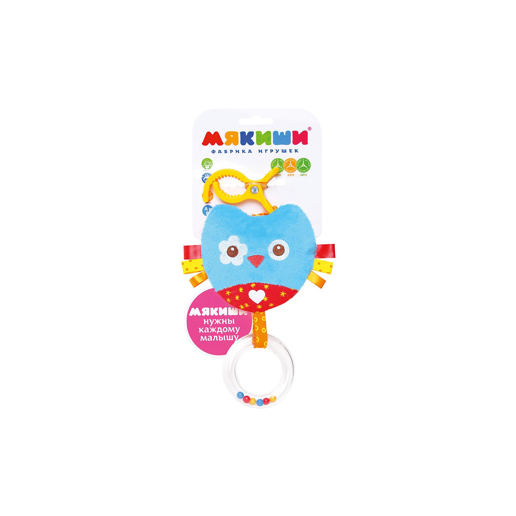 Подвеска Сова, МякишиМягкие игрушки<br>Характеристики товара:<br><br>• материал: разнофактурный текстиль, холлофайбер<br>• комплектация: 1 шт<br>• размер игрушки: 16х29х4 см<br>• звуковой элемент<br>• клипса для крепления<br>• прорезыватель<br>• развивающая игрушка<br>• упаковка: ламинированный картонный холдер<br>• страна бренда: РФ<br>• страна изготовитель: РФ<br><br>Малыши активно познают мир и тянутся к новой информации. Чтобы сделать процесс изучения окружающего пространства интереснее, ребенку можно подарить развивающие игрушки. В процессе игры информация усваивается намного лучше!<br>Такие игрушки помогут занять малыша, играть ими приятно и весело. Одновременно они позволят познакомиться со многими цветами, фактурами, а также научиться извлекать звук. Подобные игрушки развивают тактильные ощущения, моторику, цветовосприятие, логику, воображение, учат фокусировать внимание. Каждое изделие абсолютно безопасно – оно создано из качественной ткани с мягким наполнителем. Игрушки производятся из качественных и проверенных материалов, которые безопасны для детей.<br><br>Подвеску Сова от бренда Мякиши можно купить в нашем интернет-магазине.<br><br>Ширина мм: 320<br>Глубина мм: 150<br>Высота мм: 40<br>Вес г: 40<br>Возраст от месяцев: 12<br>Возраст до месяцев: 36<br>Пол: Унисекс<br>Возраст: Детский<br>SKU: 5183210
