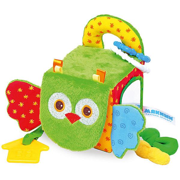 Кубик Сова, МякишиРазвивающие игрушки<br>Характеристики товара:<br><br>• материал: разнофактурный текстиль, поролон<br>• комплектация: 1 шт<br>• размер игрушки: 5х20х10 см<br>• звуковой элемент<br>• подвес<br>• прорезыватель<br>• развивающая игрушка<br>• упаковка: картон<br>• страна бренда: РФ<br>• страна изготовитель: РФ<br><br>Малыши активно познают мир и тянутся к новой информации. Чтобы сделать процесс изучения окружающего пространства интереснее, ребенку можно подарить развивающие игрушки. В процессе игры информация усваивается намного лучше!<br>Такие игрушки помогут занять малыша, играть ими приятно и весело. Одновременно они позволят познакомиться со многими цветами, фактурами, а также научиться извлекать звук. Подобные игрушки развивают тактильные ощущения, моторику, цветовосприятие, логику, воображение, учат фокусировать внимание. Каждое изделие абсолютно безопасно – оно создано из качественной ткани с мягким наполнителем. Игрушки производятся из качественных и проверенных материалов, которые безопасны для детей.<br><br>Кубик Сова от бренда Мякиши можно купить в нашем интернет-магазине.<br><br>Ширина мм: 155<br>Глубина мм: 200<br>Высота мм: 100<br>Вес г: 90<br>Возраст от месяцев: 12<br>Возраст до месяцев: 36<br>Пол: Унисекс<br>Возраст: Детский<br>SKU: 5183213