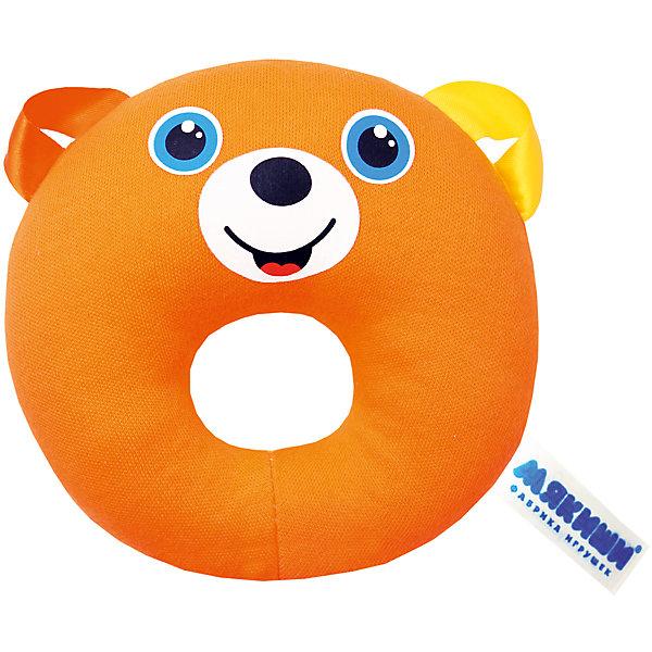 Колечко Медвежонок, МякишиИгрушки для новорожденных<br>Характеристики товара:<br><br>• материал: разнофактурный текстиль, поролон<br>• комплектация: 1 шт<br>• размер игрушки: 16х24х3 см<br>• звуковой элемент<br>• развивающая игрушка<br>• упаковка: пакет<br>• страна бренда: РФ<br>• страна изготовитель: РФ<br><br>Малыши активно познают мир и тянутся к новой информации. Чтобы сделать процесс изучения окружающего пространства интереснее, ребенку можно подарить развивающие игрушки. В процессе игры информация усваивается намного лучше!<br>Такие игрушки помогут занять малыша, играть ими приятно и весело. Одновременно они позволят познакомиться со многими цветами, фактурами, а также научиться извлекать звук. Подобные игрушки развивают тактильные ощущения, моторику, цветовосприятие, логику, воображение, учат фокусировать внимание. Каждое изделие абсолютно безопасно – оно создано из качественной ткани с мягким наполнителем. Игрушки производятся из качественных и проверенных материалов, которые безопасны для детей.<br><br>Колечко Медвежонок от бренда Мякиши можно купить в нашем интернет-магазине.<br>Ширина мм: 120; Глубина мм: 30; Высота мм: 120; Вес г: 90; Возраст от месяцев: 12; Возраст до месяцев: 36; Пол: Унисекс; Возраст: Детский; SKU: 5183215;