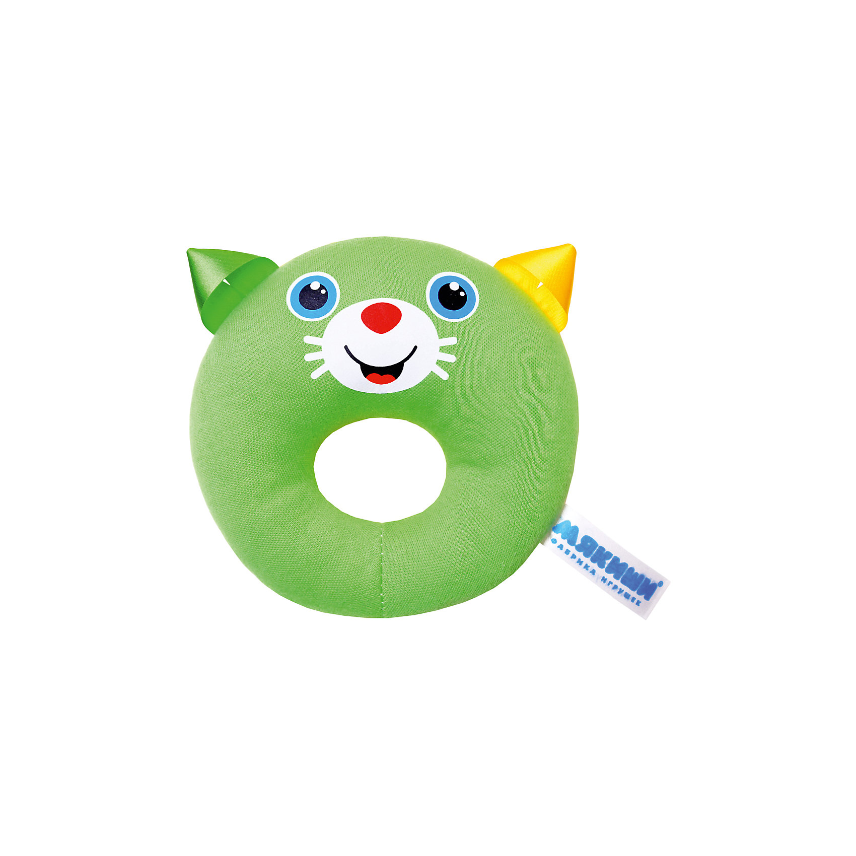 Колечко Котёнок, МякишиМягкие игрушки<br>Характеристики товара:<br><br>• материал: разнофактурный текстиль, поролон<br>• комплектация: 1 шт<br>• размер игрушки: 16х24х3 см<br>• звуковой элемент<br>• развивающая игрушка<br>• упаковка: пакет<br>• страна бренда: РФ<br>• страна изготовитель: РФ<br><br>Малыши активно познают мир и тянутся к новой информации. Чтобы сделать процесс изучения окружающего пространства интереснее, ребенку можно подарить развивающие игрушки. В процессе игры информация усваивается намного лучше!<br>Такие игрушки помогут занять малыша, играть ими приятно и весело. Одновременно они позволят познакомиться со многими цветами, фактурами, а также научиться извлекать звук. Подобные игрушки развивают тактильные ощущения, моторику, цветовосприятие, логику, воображение, учат фокусировать внимание. Каждое изделие абсолютно безопасно – оно создано из качественной ткани с мягким наполнителем. Игрушки производятся из качественных и проверенных материалов, которые безопасны для детей.<br><br>Колечко Котёнок от бренда Мякиши можно купить в нашем интернет-магазине.<br><br>Ширина мм: 120<br>Глубина мм: 30<br>Высота мм: 120<br>Вес г: 90<br>Возраст от месяцев: 12<br>Возраст до месяцев: 36<br>Пол: Унисекс<br>Возраст: Детский<br>SKU: 5183216