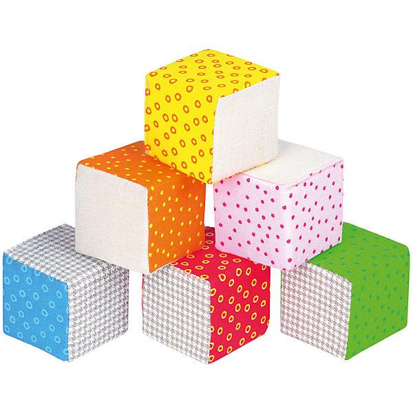 Эко Кубики, МякишиРазвивающие игрушки<br>Характеристики товара:<br><br>• материал: хлопок, лён, поролон<br>• комплектация: 6 шт<br>• размер кубика: 6х6 см<br>• размер упаковки: 14 x 26 x 7 см<br>• развивающая игрушка<br>• звуковой элемент в одном кубике<br>• упаковка: пакет<br>• страна бренда: РФ<br>• страна изготовитель: РФ<br><br>Малыши активно познают мир и тянутся к новой информации. Чтобы сделать процесс изучения окружающего пространства интереснее, ребенку можно подарить развивающие игрушки. В процессе игры информация усваивается намного лучше!<br>Такие кубики помогут занять малыша, играть ими приятно и весело. Одновременно они позволят познакомиться с разными цветами и фактурами. Такие игрушки развивают тактильные ощущения, моторику, цветовосприятие, логику, воображение, учат фокусировать внимание. Каждое изделие абсолютно безопасно – оно создано из качественной ткани с мягким наполнителем. Игрушки производятся из качественных и проверенных материалов, которые безопасны для детей.<br><br>Эко Кубики от бренда Мякиши можно купить в нашем интернет-магазине.<br>Ширина мм: 140; Глубина мм: 65; Высота мм: 260; Вес г: 80; Возраст от месяцев: 12; Возраст до месяцев: 36; Пол: Унисекс; Возраст: Детский; SKU: 5183220;