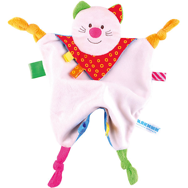 Платочек Котенок, МякишиМягкие игрушки на руку<br>Характеристики товара:<br><br>• материал: разнофактурный текстиль, поролон<br>• комплектация: 1 шт<br>• размер игрушки: 35х20 см<br>• петельки<br>• прорезыватель<br>• развивающая игрушка<br>• упаковка: картон<br>• страна бренда: РФ<br>• страна изготовитель: РФ<br><br>Малыши активно познают мир и тянутся к новой информации. Чтобы сделать процесс изучения окружающего пространства интереснее, ребенку можно подарить развивающие игрушки. В процессе игры информация усваивается намного лучше!<br>Такие игрушки помогут занять малыша, играть ими приятно и весело. Одновременно они позволят познакомиться со многими цветами, фактурами, а также научиться завязывать петли. Подобные игрушки развивают тактильные ощущения, моторику, цветовосприятие, логику, воображение, учат фокусировать внимание. Каждое изделие абсолютно безопасно – оно создано из качественной ткани с мягким наполнителем. Игрушки производятся из качественных и проверенных материалов, которые безопасны для детей.<br><br>Платочек Котенок от бренда Мякиши можно купить в нашем интернет-магазине.<br><br>Ширина мм: 250<br>Глубина мм: 20<br>Высота мм: 200<br>Вес г: 50<br>Возраст от месяцев: 12<br>Возраст до месяцев: 36<br>Пол: Унисекс<br>Возраст: Детский<br>SKU: 5183221