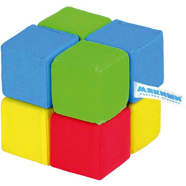 Кубики Четыре цвета, МякишиРазвивающие игрушки<br>Характеристики товара:<br><br>• материал: хлопок, поролон<br>• комплектация: 8 шт<br>• размер кубика: 5х5 см<br>• размер упаковки: 15 x 18 x 10 см<br>• развивающая игрушка<br>• звуковой элемент в одном кубике<br>• упаковка: пакет<br>• страна бренда: РФ<br>• страна изготовитель: РФ<br><br>Малыши активно познают мир и тянутся к новой информации. Чтобы сделать процесс изучения окружающего пространства интереснее, ребенку можно подарить развивающие игрушки. В процессе игры информация усваивается намного лучше!<br>Такие кубики помогут занять малыша, играть ими приятно и весело. Одновременно они позволят познакомиться с разными цветами. Такие игрушки развивают тактильные ощущения, моторику, цветовосприятие, логику, воображение, учат фокусировать внимание. Каждое изделие абсолютно безопасно – оно создано из качественной ткани с мягким наполнителем. Игрушки производятся из качественных и проверенных материалов, которые безопасны для детей.<br><br>Кубики Четыре цвета от бренда Мякиши можно купить в нашем интернет-магазине.<br><br>Ширина мм: 150<br>Глубина мм: 180<br>Высота мм: 100<br>Вес г: 80<br>Возраст от месяцев: 12<br>Возраст до месяцев: 36<br>Пол: Унисекс<br>Возраст: Детский<br>SKU: 5183223