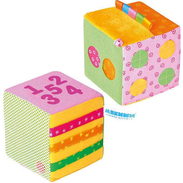 Математический кубик, МякишиРазвивающие игрушки<br>Характеристики товара:<br><br>• материал: разнофактурный текстиль, поролон<br>• комплектация: 1 шт<br>• размер кубика: 10 см<br>• размер упаковки: 14 x 28 x 10 см<br>• развивающая игрушка<br>• звуковой элемент в одном кубике<br>• упаковка: пакет<br>• страна бренда: РФ<br>• страна изготовитель: РФ<br><br>Малыши активно познают мир и тянутся к новой информации. Чтобы сделать процесс изучения окружающего пространства интереснее, ребенку можно подарить развивающие игрушки. В процессе игры информация усваивается намного лучше!<br>Такие кубики помогут занять малыша, играть ими приятно и весело. Одновременно они позволят познакомиться с математикой. Такие игрушки развивают тактильные ощущения, моторику, цветовосприятие, логику, воображение, учат фокусировать внимание. Каждое изделие абсолютно безопасно – оно создано из качественной ткани с мягким наполнителем. Игрушки производятся из качественных и проверенных материалов, которые безопасны для детей.<br><br>Математический кубик от бренда Мякиши можно купить в нашем интернет-магазине.<br><br>Ширина мм: 100<br>Глубина мм: 100<br>Высота мм: 100<br>Вес г: 140<br>Возраст от месяцев: 12<br>Возраст до месяцев: 36<br>Пол: Унисекс<br>Возраст: Детский<br>SKU: 5183224